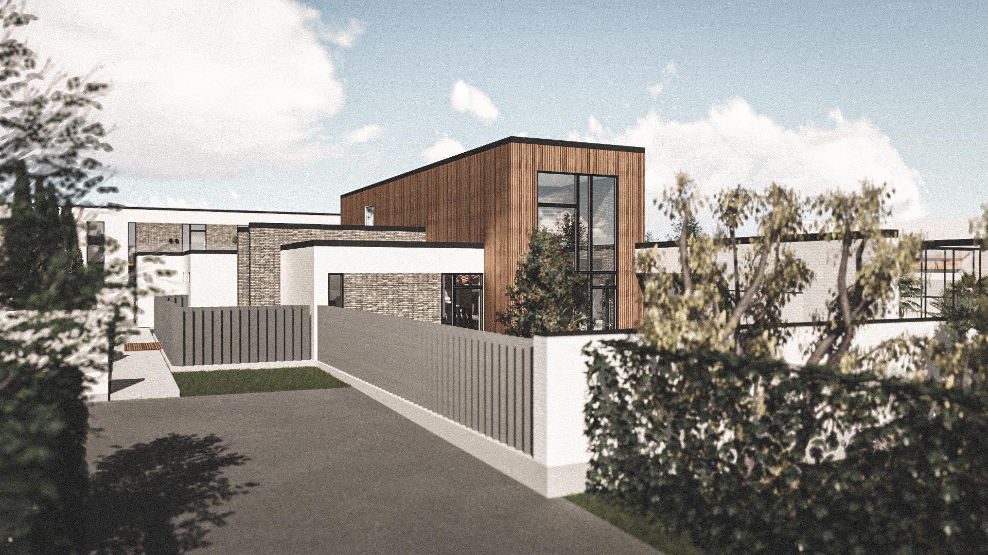 Billede af Dansk arkitekttegnet 2 plan villa af arkitektfirmaet m2plus, i Amager på 671 kvartratmeter.