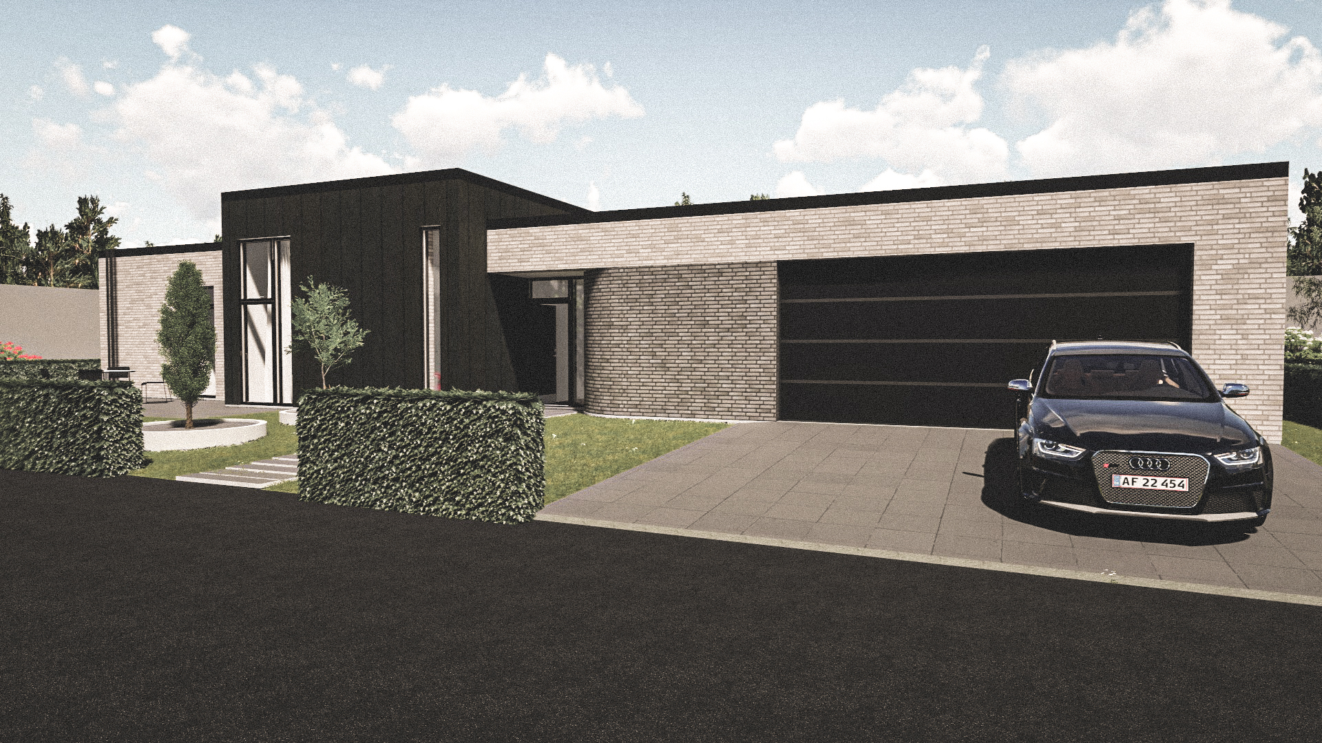 Billede af Dansk arkitekttegnet 1 plan villa af arkitektfirmaet m2plus, i Aalborg på 234 kvartratmeter.