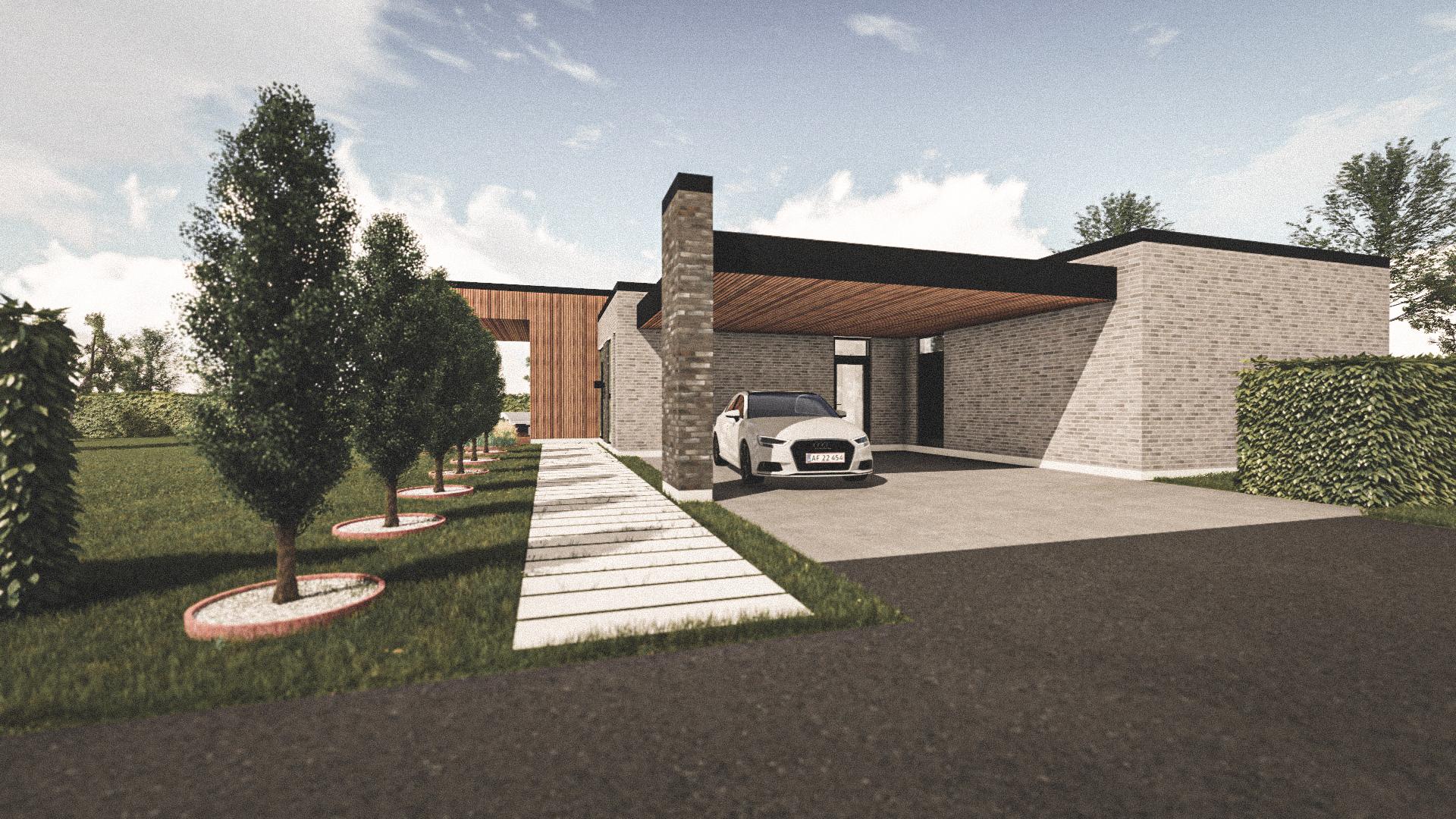 Billede af Dansk arkitekttegnet 1 plan villa af arkitektfirmaet m2plus, i Støvring på 192 kvartratmeter.