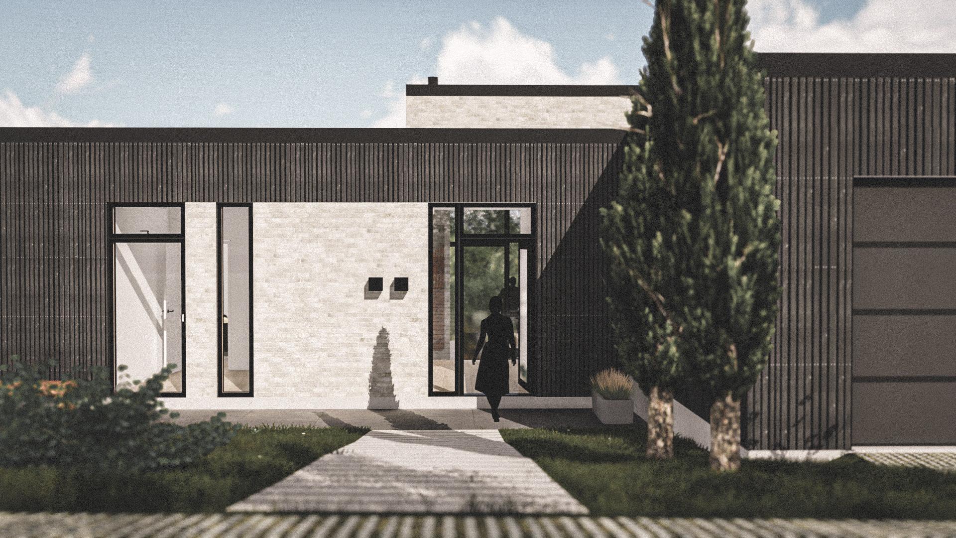 Billede af Dansk arkitekttegnet 1 plan villa af arkitektfirmaet m2plus, i Aabenraa på 176 kvartratmeter.