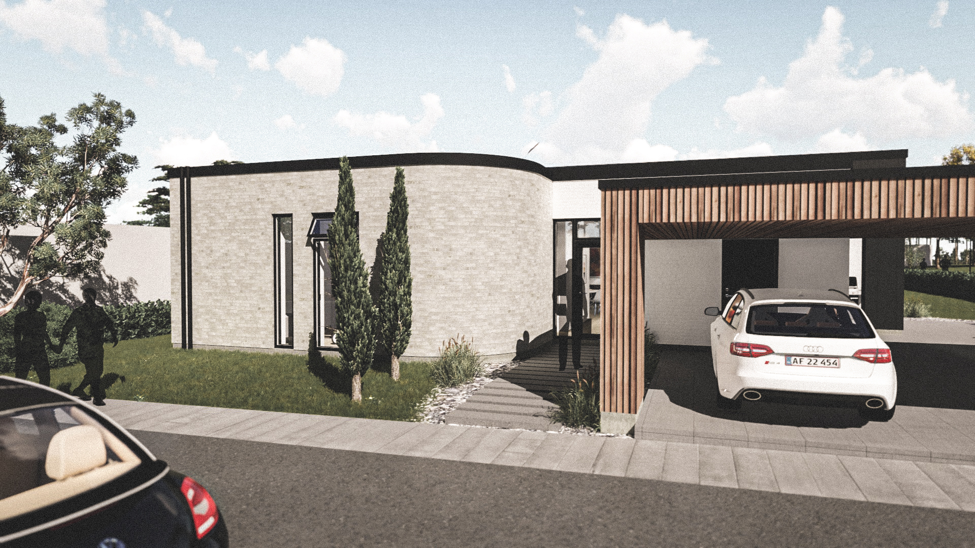 Billede af Dansk arkitekttegnet 1 plan villa af arkitektfirmaet m2plus, i Silkeborg på 192 kvartratmeter.