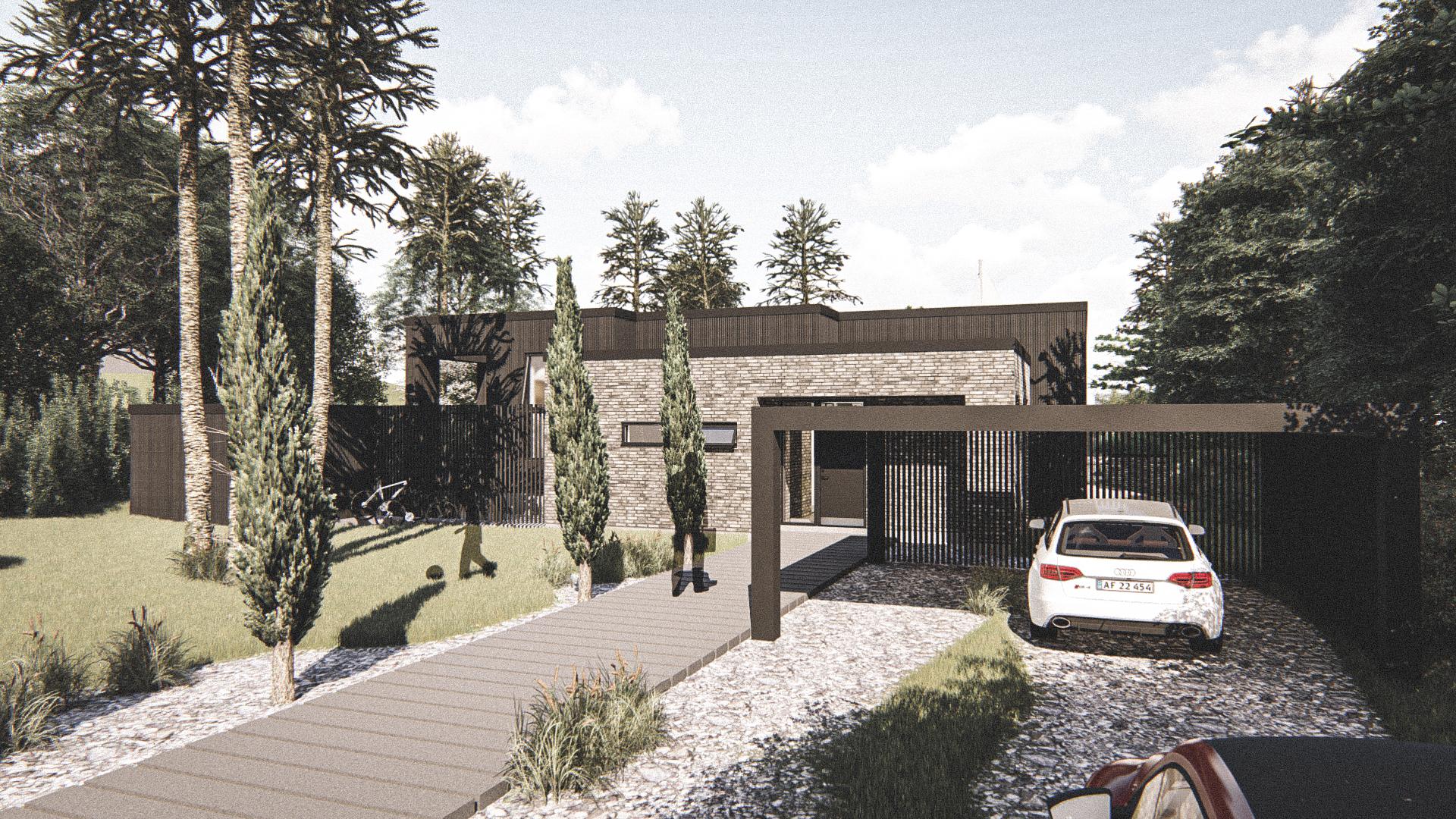 Billede af Dansk arkitekttegnet 2 plan villa af arkitektfirmaet m2plus, i Silkeborg på 265 kvartratmeter.