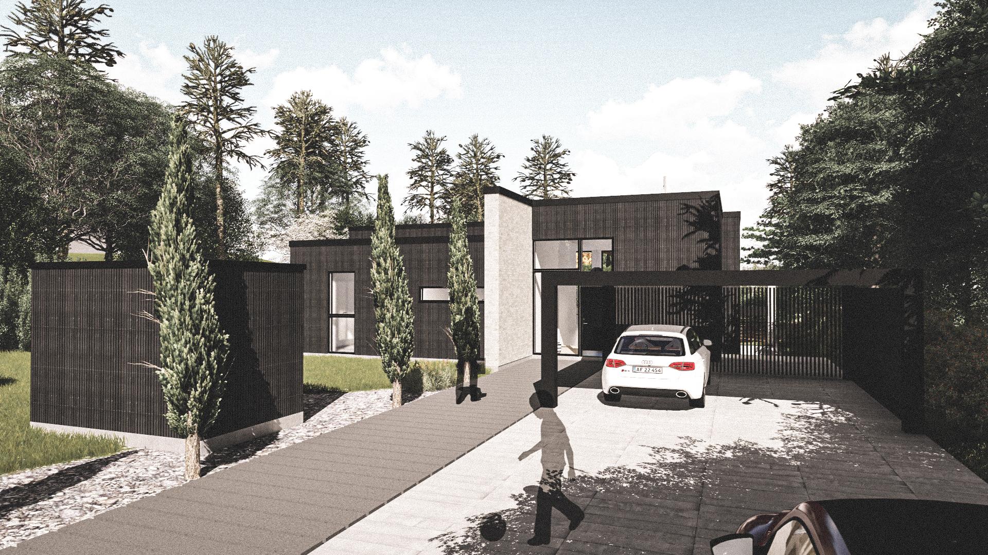 Billede af Dansk arkitekttegnet 2 plan villa af arkitektfirmaet m2plus, i Silkeborg på 274 kvartratmeter.