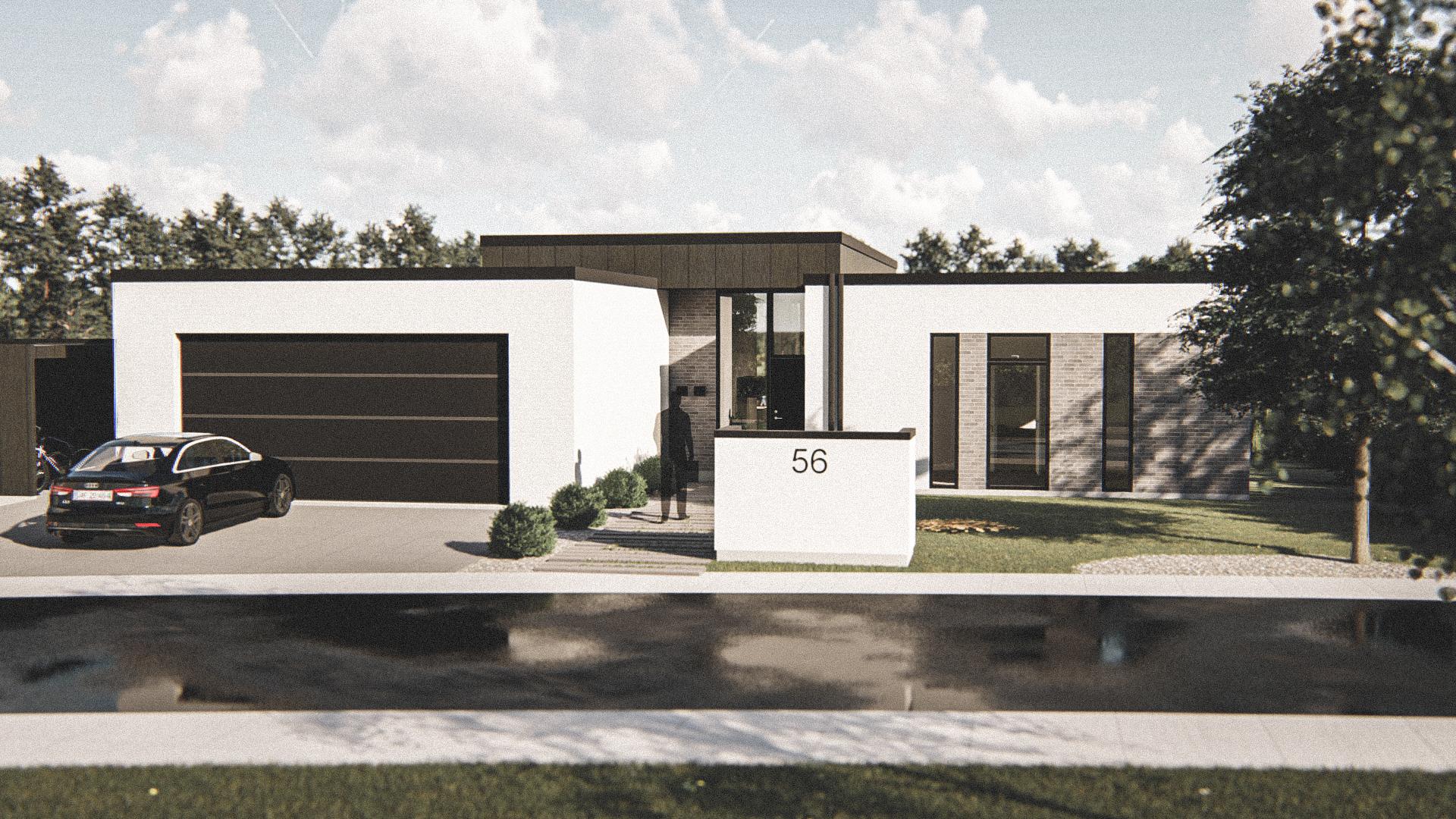 Billede af Dansk arkitekttegnet 1 plan villa af arkitektfirmaet m2plus, i Aars på 195 kvartratmeter.