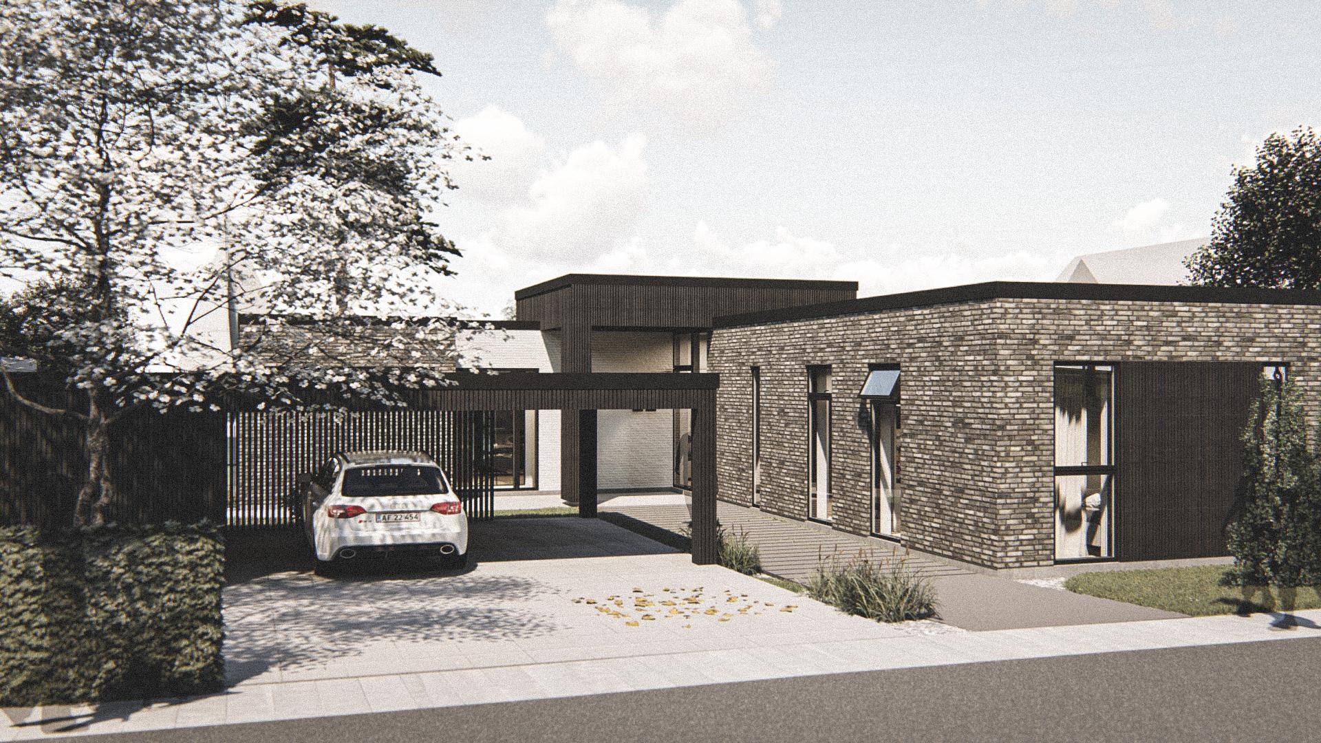 Billede af Dansk arkitekttegnet 2 plan villa af arkitektfirmaet m2plus, i Holbæk på 350 kvartratmeter.