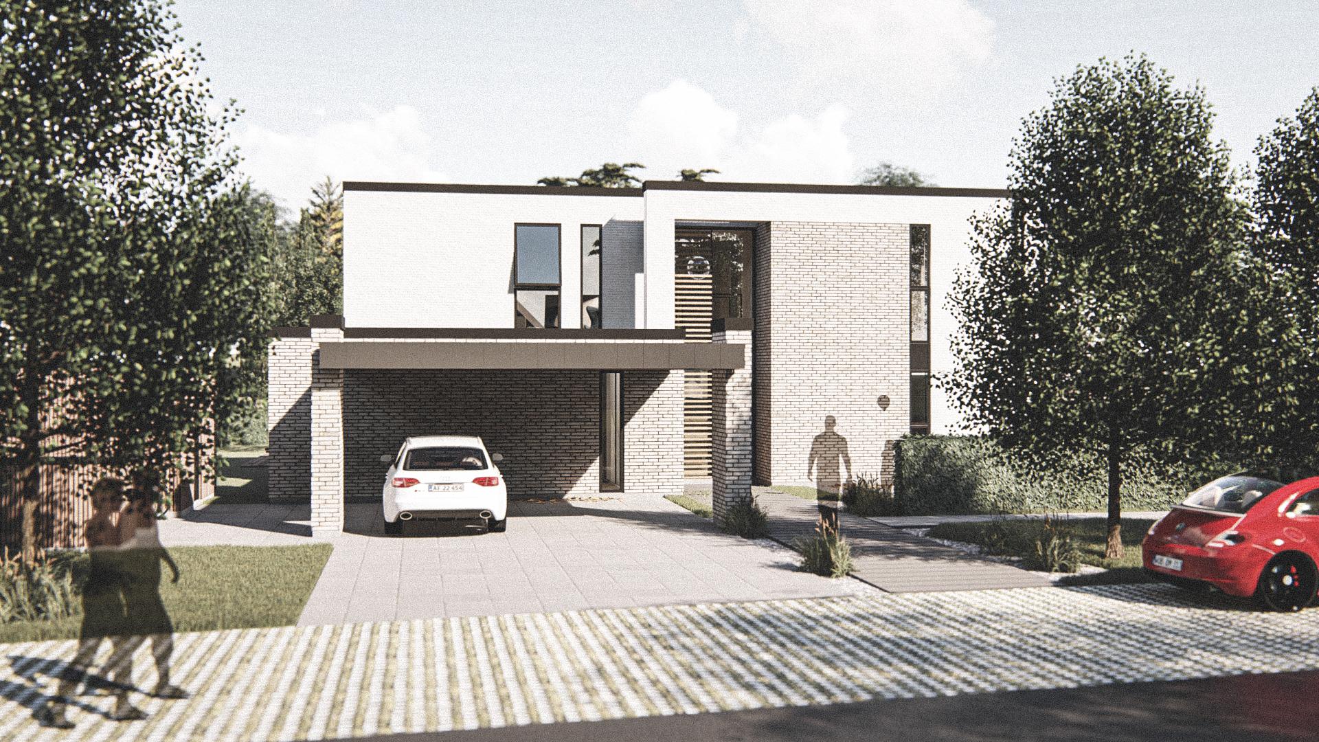 Billede af Dansk arkitekttegnet parterreplan villa af arkitektfirmaet m2plus, i Silkeborg på 312 kvartratmeter.