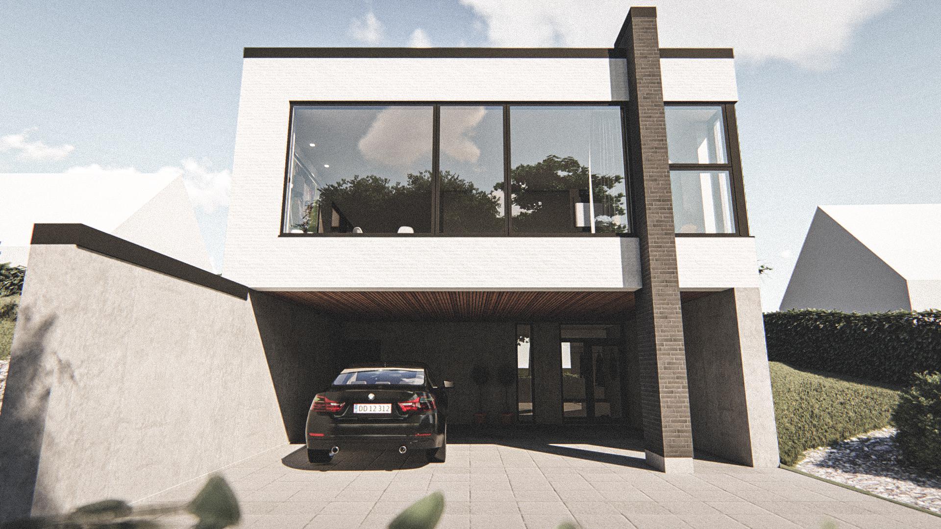Billede af Dansk arkitekttegnet 2 plan villa af arkitektfirmaet m2plus, i Viborg på 178 kvartratmeter.