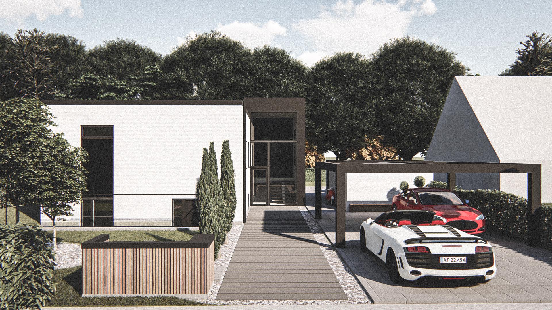 Billede af Dansk arkitekttegnet 2 plan villa af arkitektfirmaet m2plus, i Aalborg på 284 kvartratmeter.