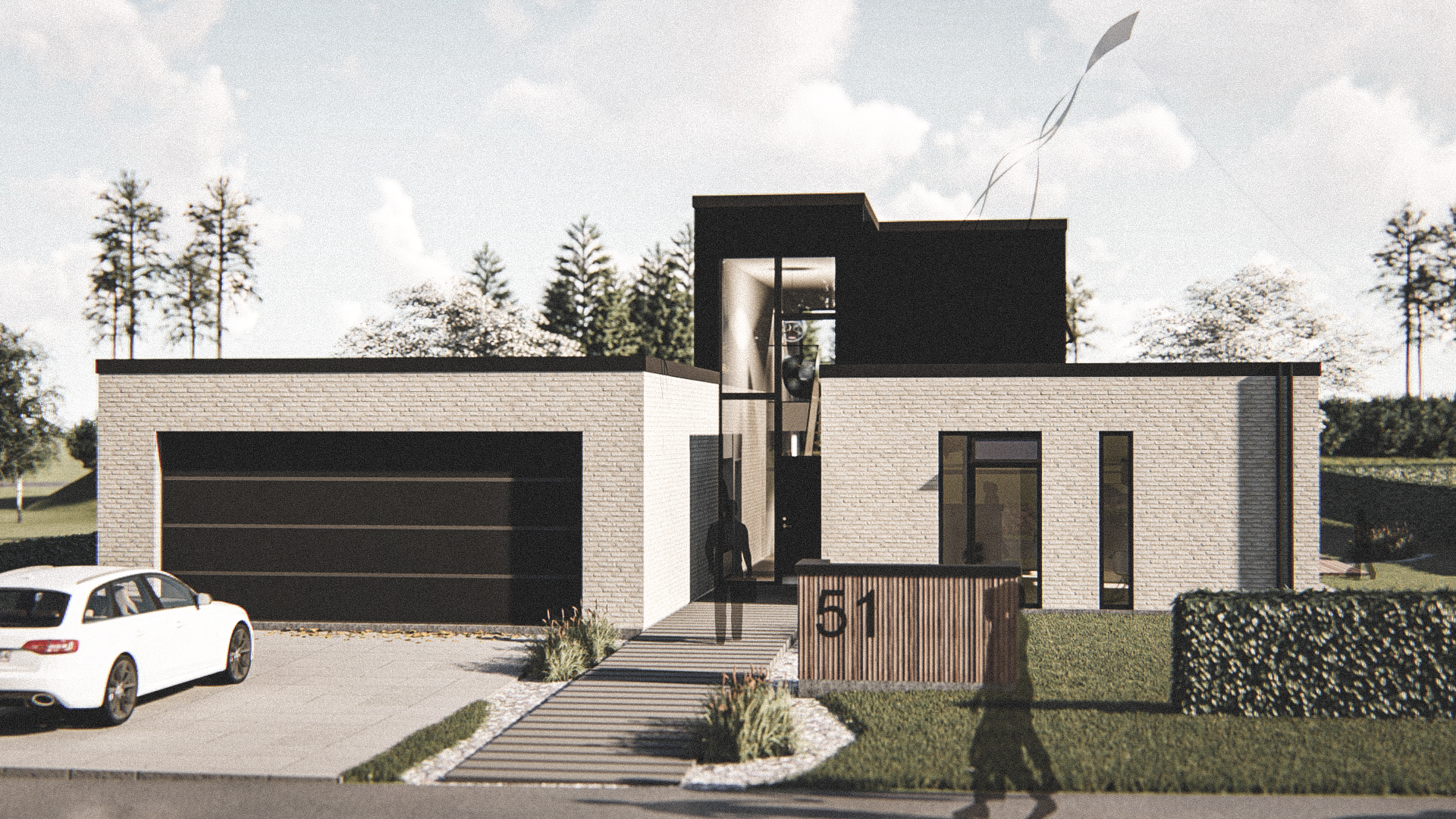 Billede af Dansk arkitekttegnet 2 plan villa af arkitektfirmaet m2plus, i Esbjerg på 204 kvartratmeter.