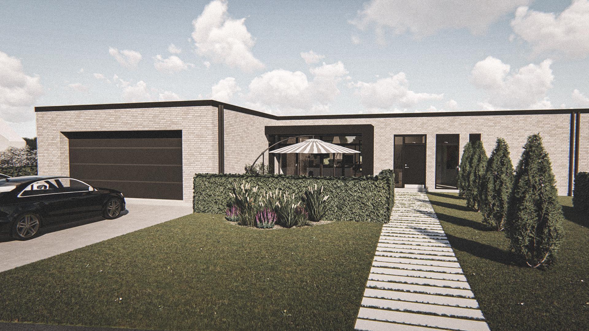Billede af Dansk arkitekttegnet 1 plan villa af arkitektfirmaet m2plus, i Hjørring på 204 kvartratmeter.