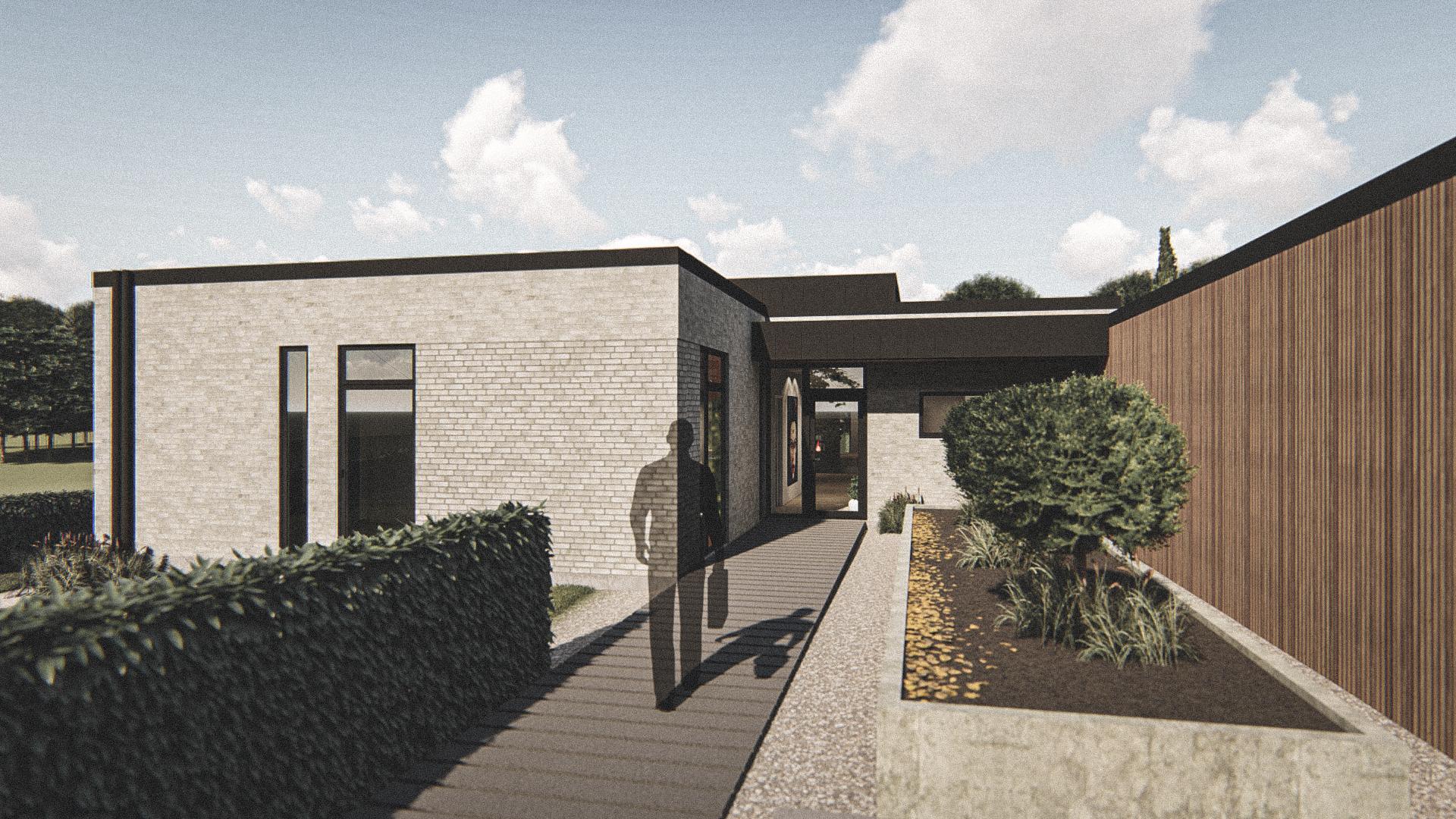 Billede af Dansk arkitekttegnet 1 plan villa af arkitektfirmaet m2plus, i Brovst på 213 kvartratmeter.