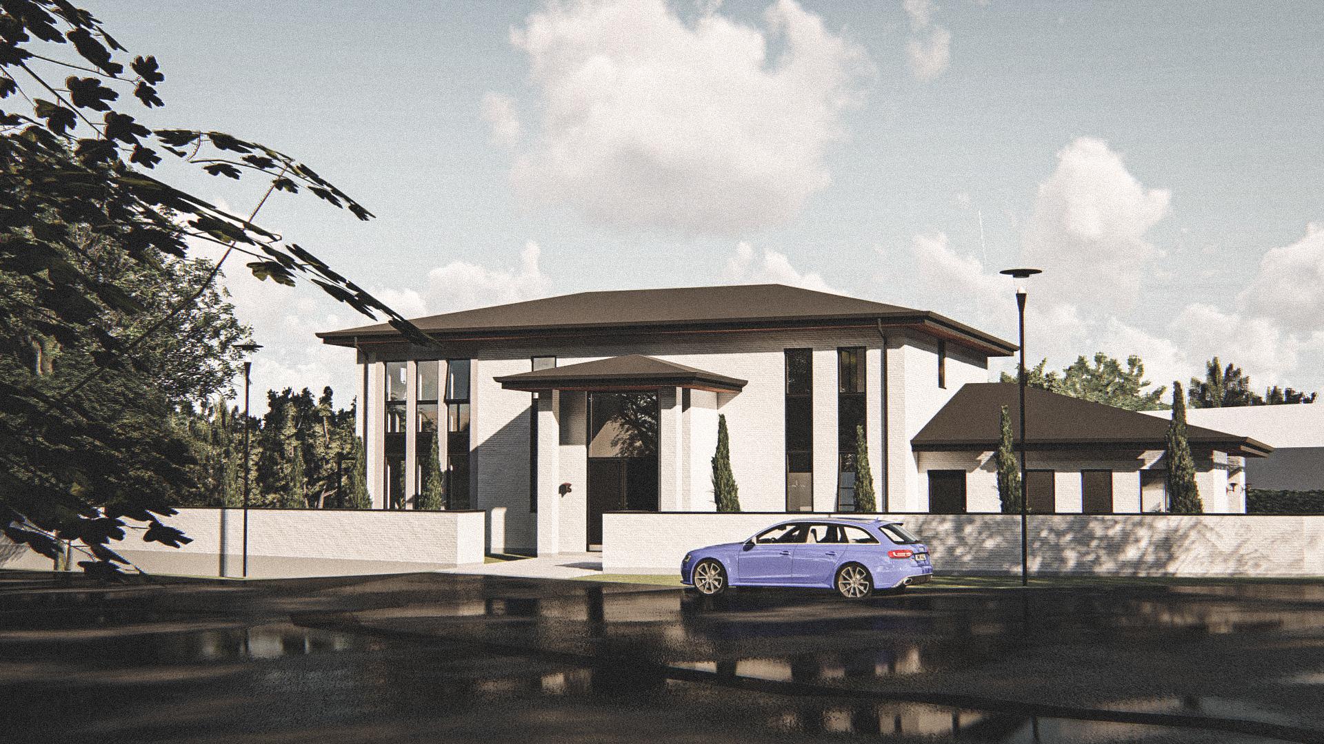 Billede af Dansk arkitekttegnet 3 plan villa af arkitektfirmaet m2plus, i Vedbæk på 537 kvartratmeter.