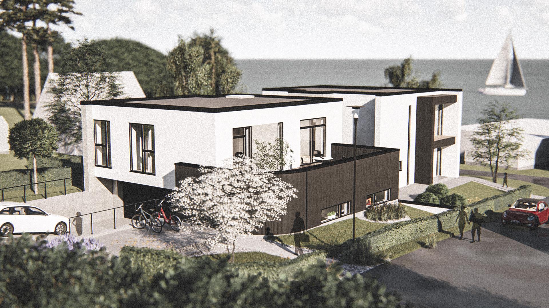 Billede af Dansk arkitekttegnet 3 plan villa af arkitektfirmaet m2plus, i Viborg på 404 kvartratmeter.