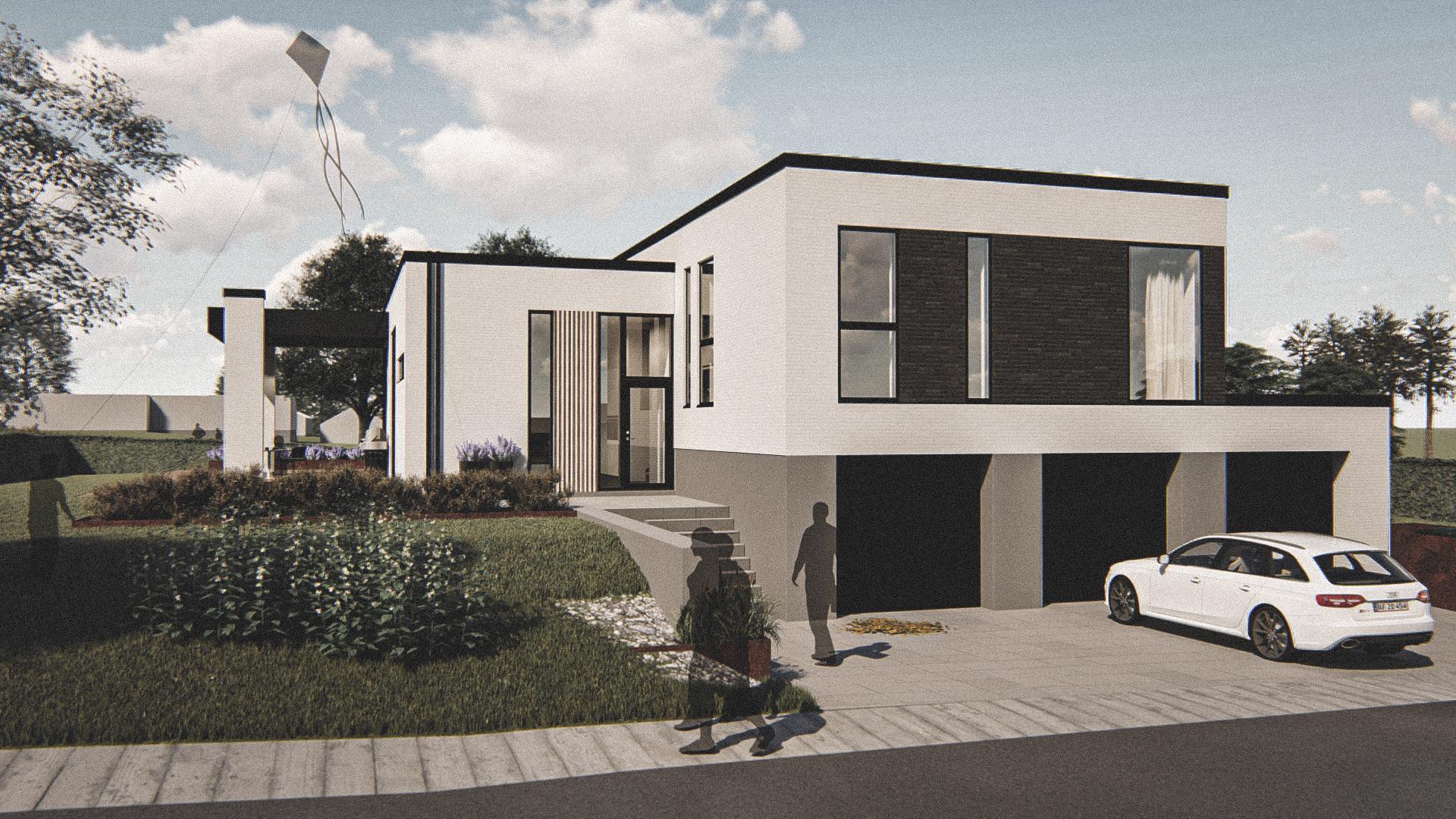 Billede af Dansk arkitekttegnet 2 plan villa af arkitektfirmaet m2plus, i Brønderslev på 248 kvartratmeter.