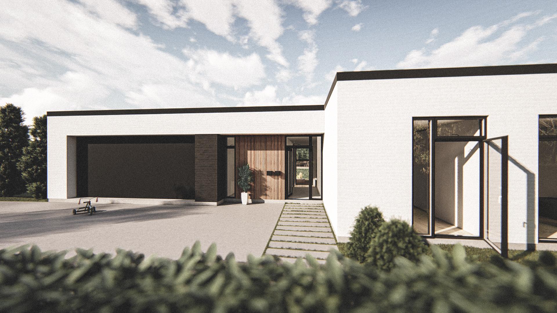 Billede af Dansk arkitekttegnet 1 plan villa af arkitektfirmaet m2plus, i Espergærde på 189 kvartratmeter.
