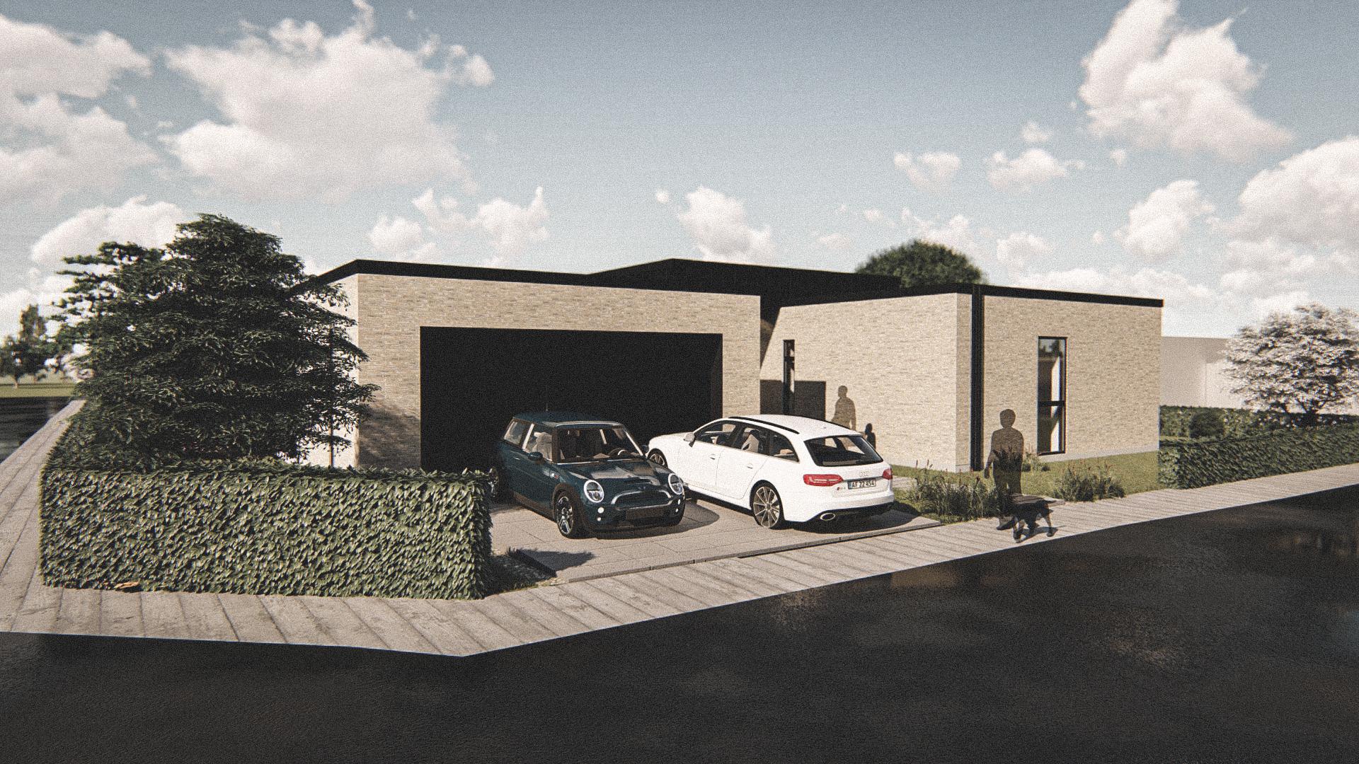 Billede af Dansk arkitekttegnet 1 plan villa af arkitektfirmaet m2plus, i Hjallerup på 247 kvartratmeter.