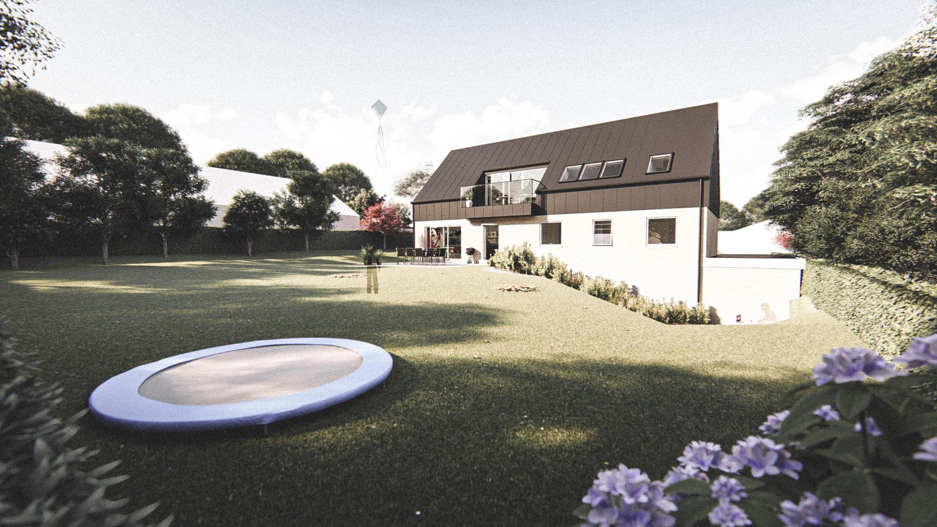 Billede af Dansk arkitekttegnet 2 plan villa af arkitektfirmaet m2plus, i Stavstrup på 247 kvartratmeter.