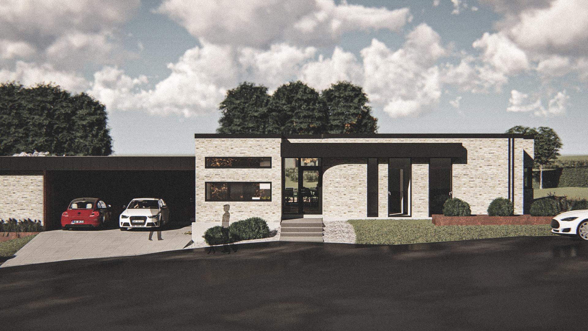 Billede af Dansk arkitekttegnet 1 plan villa af arkitektfirmaet m2plus, i Støvring på 201 kvartratmeter.