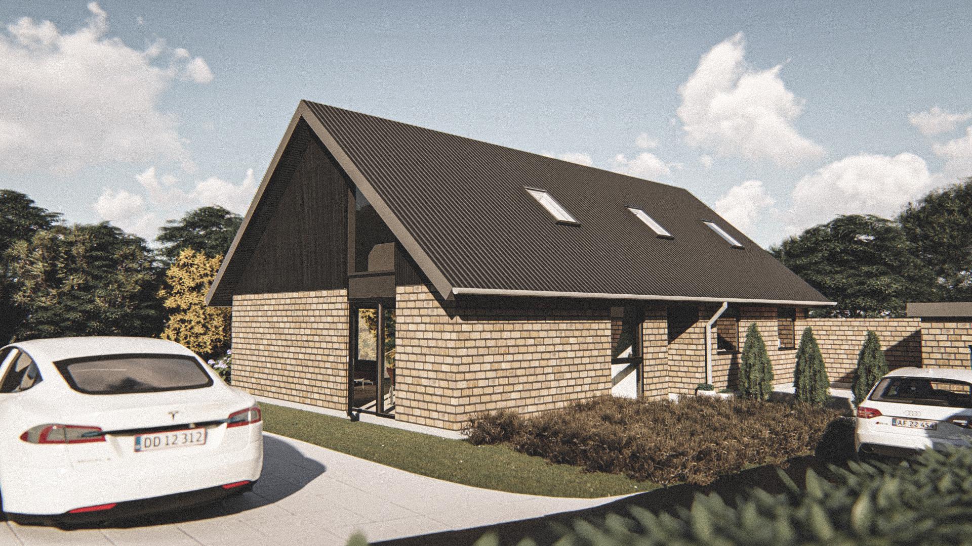 Billede af Dansk arkitekttegnet 2 plan villa af arkitektfirmaet m2plus, i Vodskov på 0 kvartratmeter.