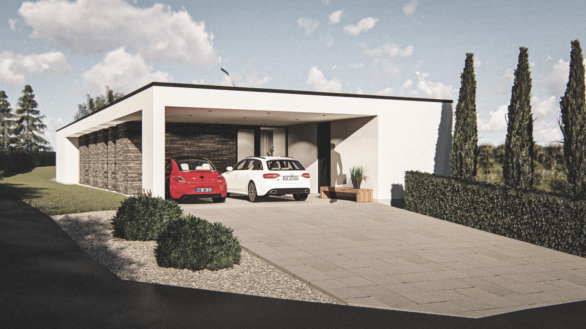Billede af Dansk arkitekttegnet 1 plan villa af arkitektfirmaet m2plus, i Næstved på 178 kvartratmeter.