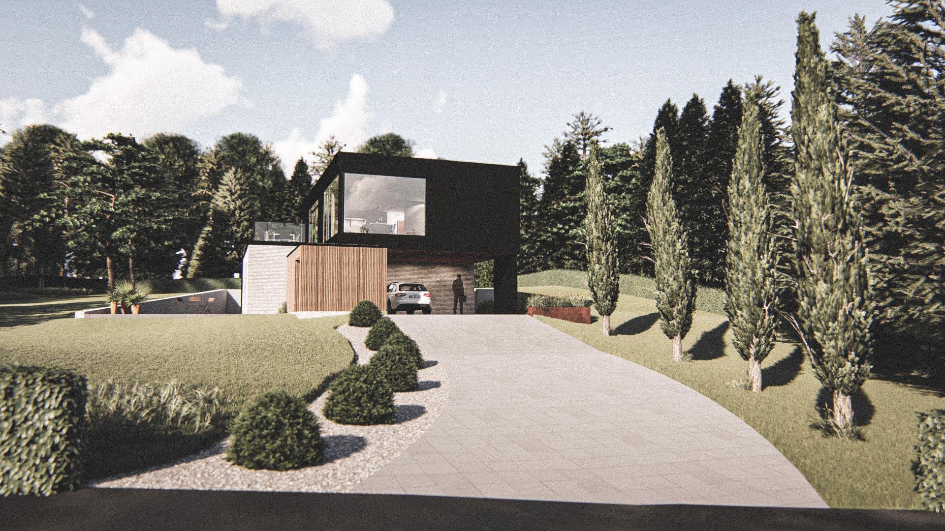 Billede af Dansk arkitekttegnet 2 plan villa af arkitektfirmaet m2plus, i Hadsund på 220 kvartratmeter.
