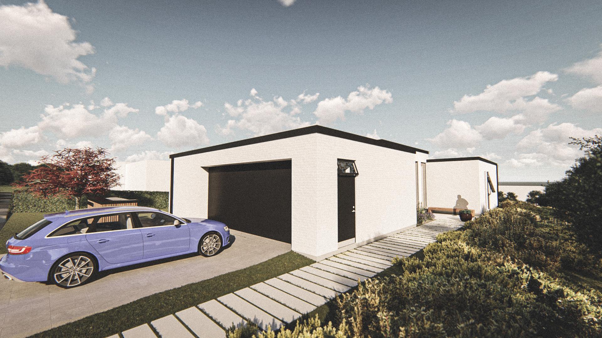 Billede af Dansk arkitekttegnet 1 plan villa af arkitektfirmaet m2plus, i Løgstør på 190 kvartratmeter.