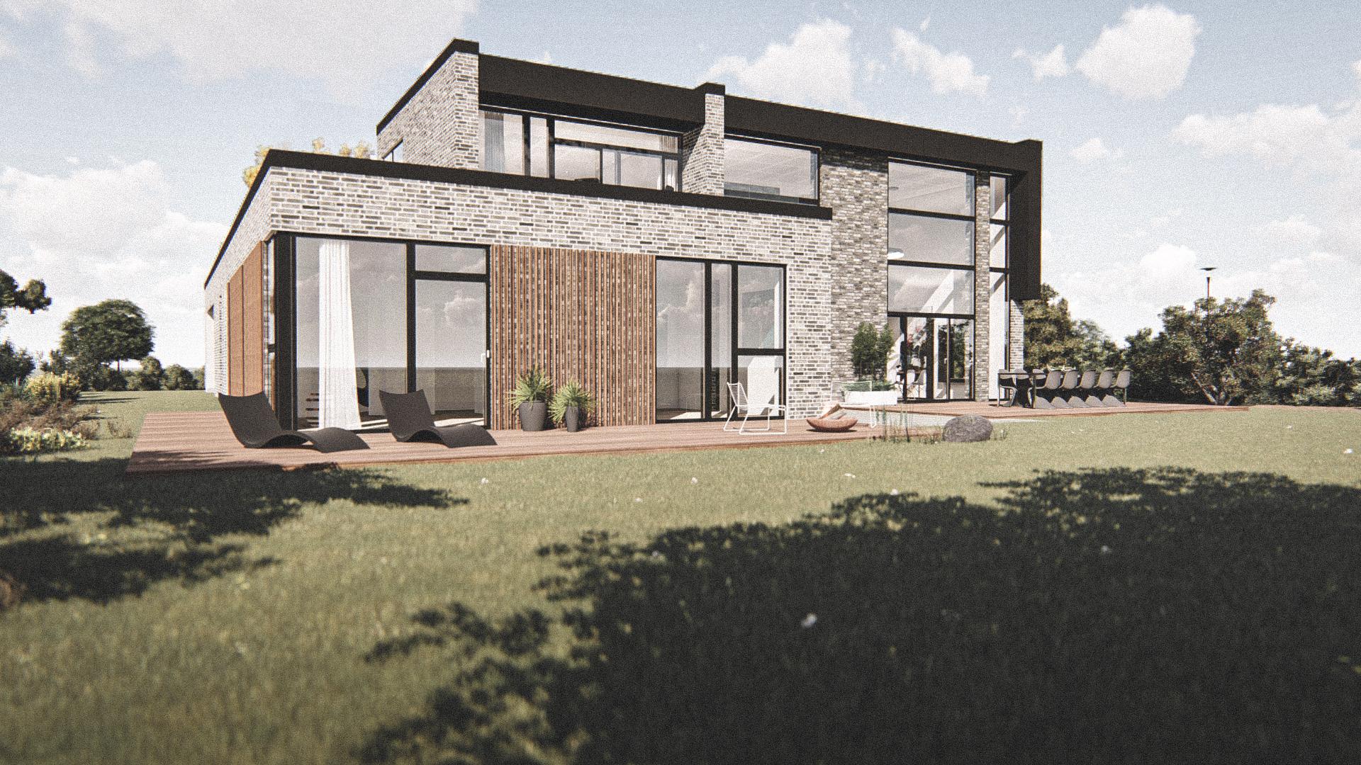Billede af Dansk arkitekttegnet 2 plan villa af arkitektfirmaet m2plus, i Odder på 286 kvartratmeter.