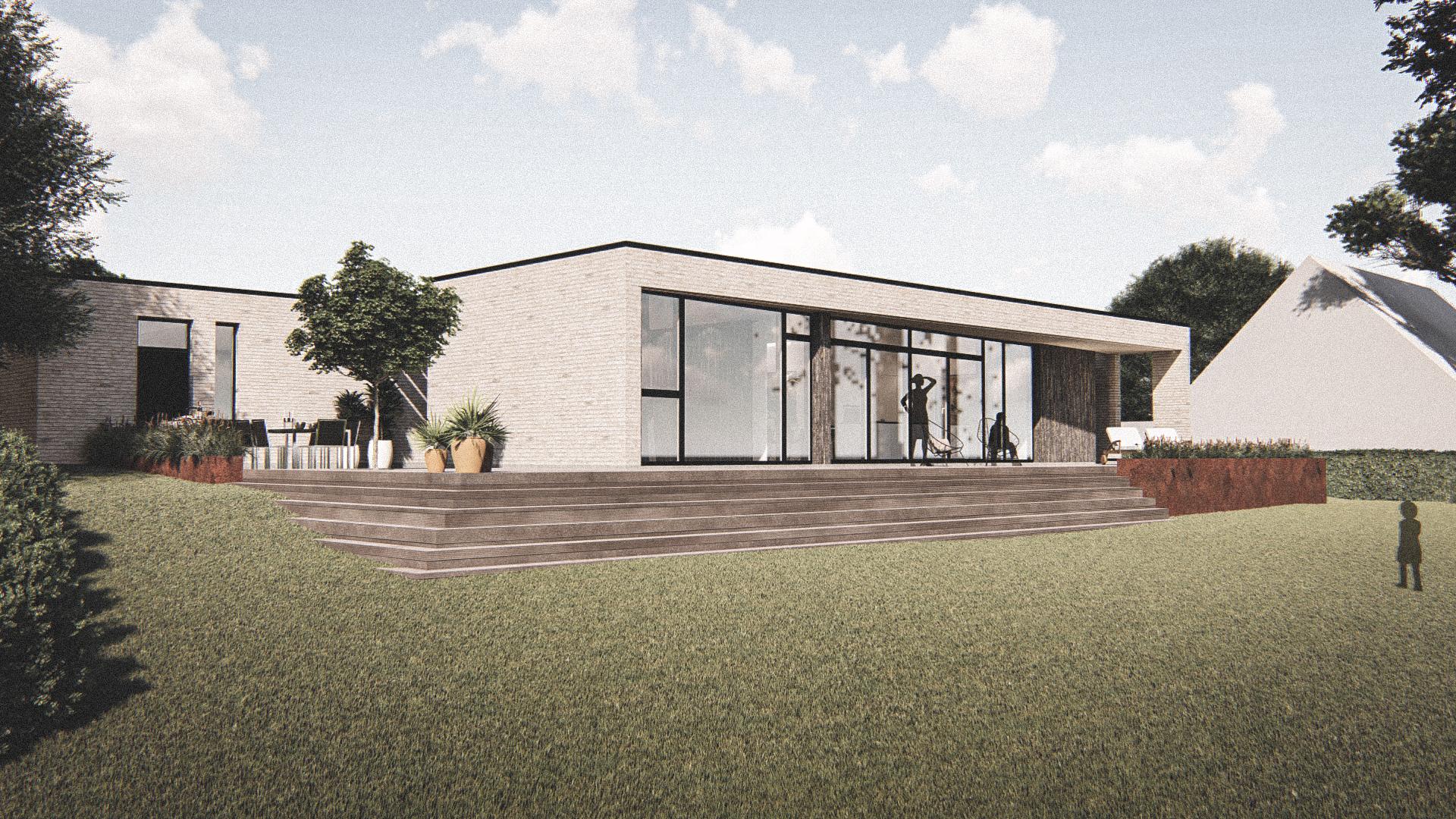 Billede af Dansk arkitekttegnet 1 plan villa af arkitektfirmaet m2plus, i Svendborg på 177 kvartratmeter.