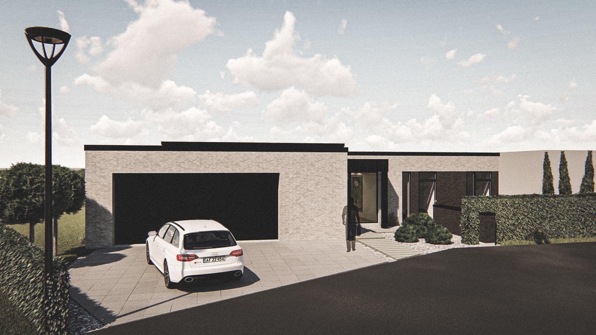Billede af Dansk arkitekttegnet 1 plan villa af arkitektfirmaet m2plus, i Viborg på 225 kvartratmeter.