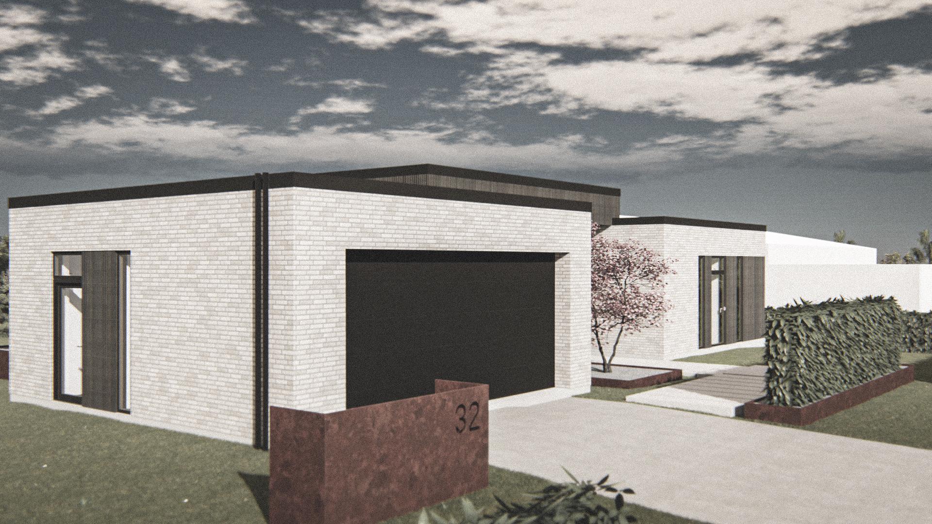Billede af Dansk arkitekttegnet 1 plan villa af arkitektfirmaet m2plus, i Viborg på 196 kvartratmeter.