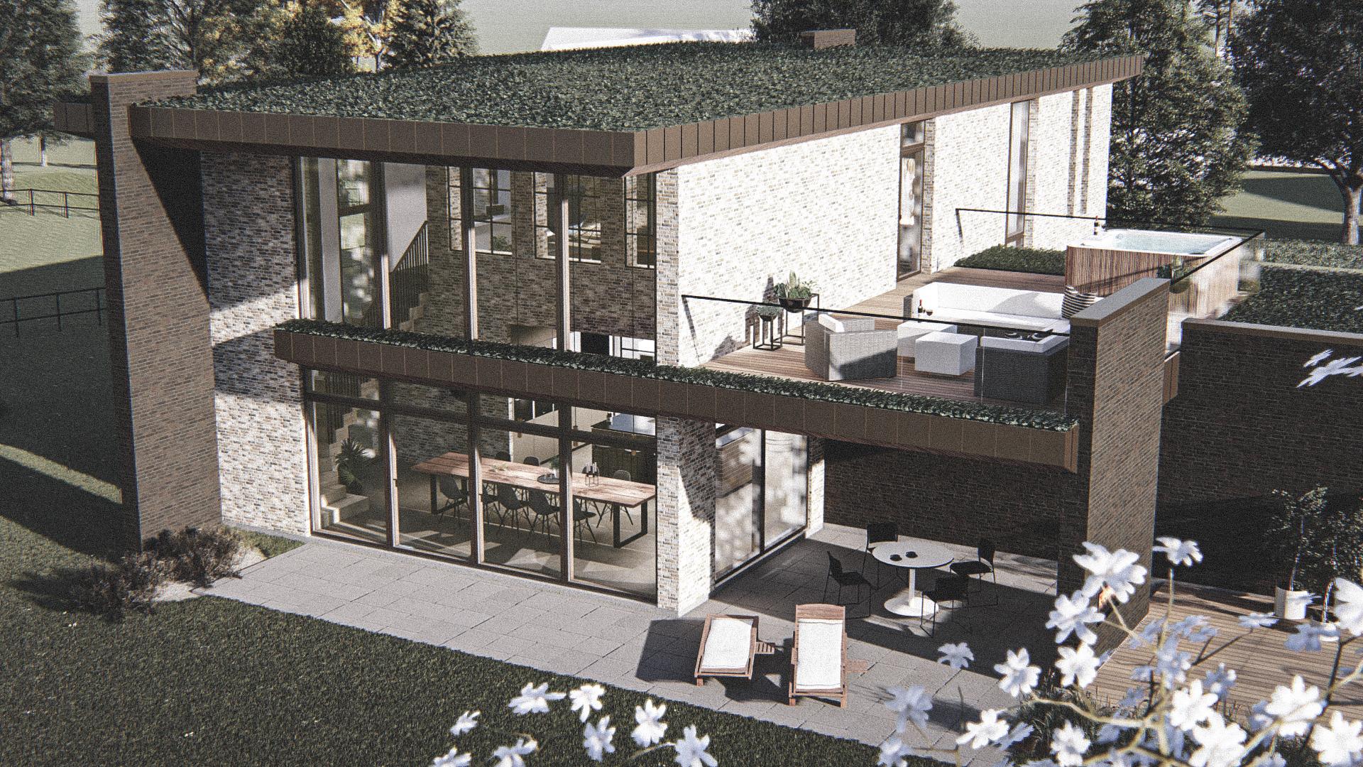 Billede af Dansk arkitekttegnet 2 plan villa af arkitektfirmaet m2plus, i Sejs på 284 kvartratmeter.