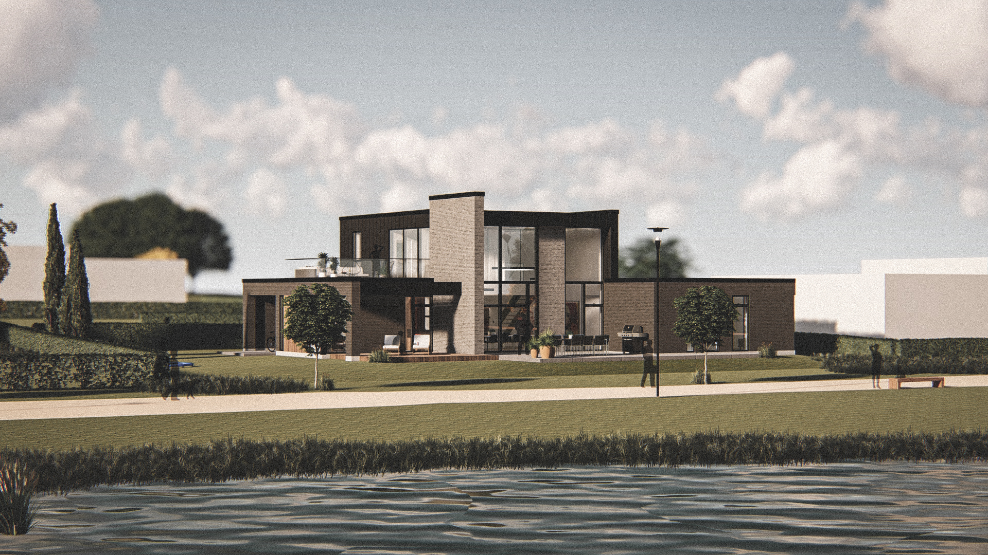 Billede af Dansk arkitekttegnet 2 plan villa af arkitektfirmaet m2plus, i Holstebro på 265 kvartratmeter.