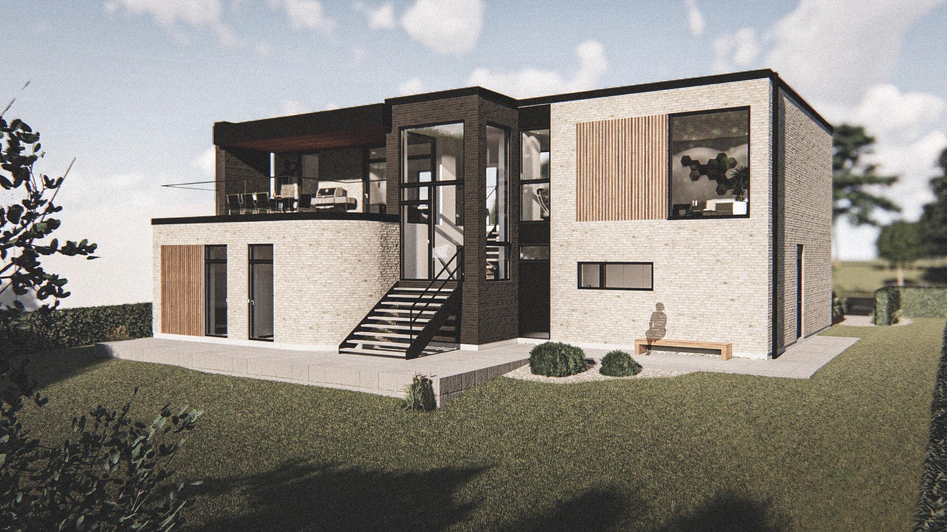 Billede af Dansk arkitekttegnet 2 plan villa af arkitektfirmaet m2plus, i Herlev på 262 kvartratmeter.