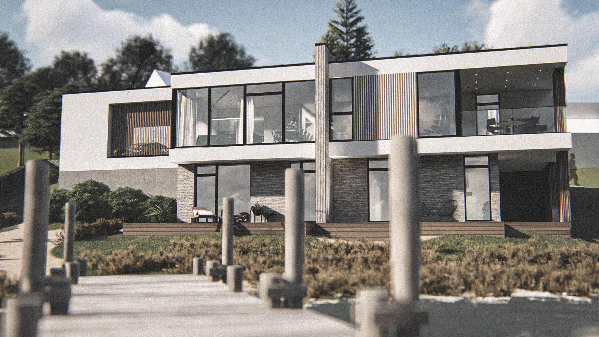 Billede af Dansk arkitekttegnet 2 plan villa af arkitektfirmaet m2plus, i Viborg på 206 kvartratmeter.