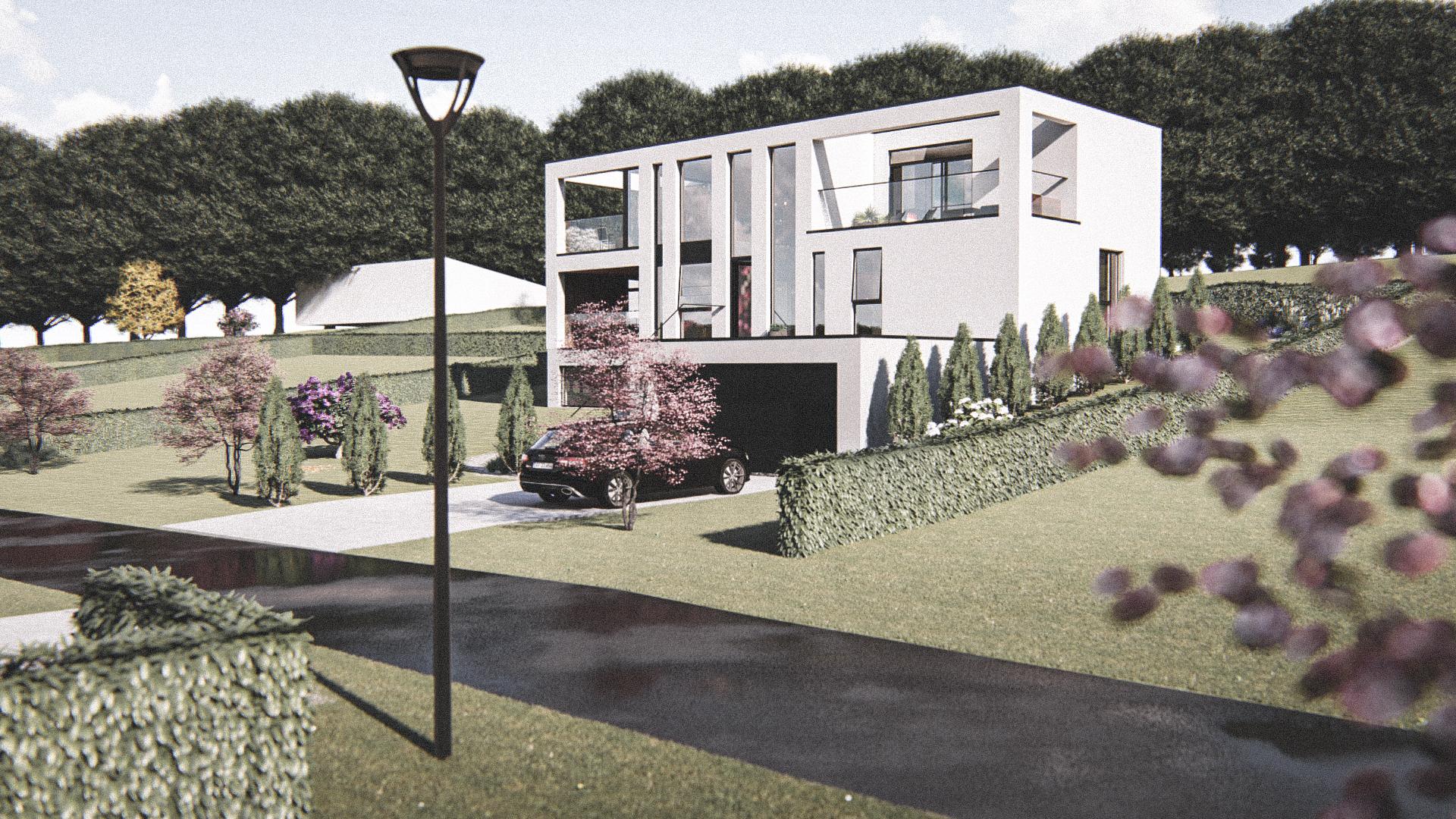 Billede af Dansk arkitekttegnet 3 plan villa af arkitektfirmaet m2plus, i Hinnerup på 373 kvartratmeter.