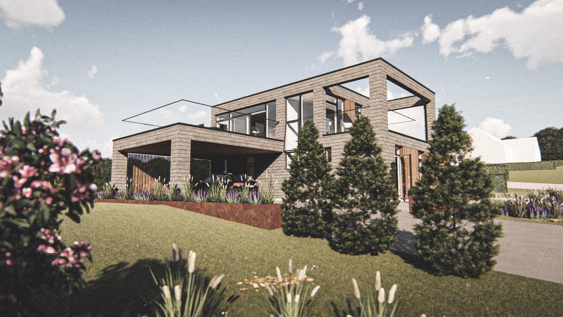 Billede af Dansk arkitekttegnet 2 plan villa af arkitektfirmaet m2plus, i Mariager på 164 kvartratmeter.