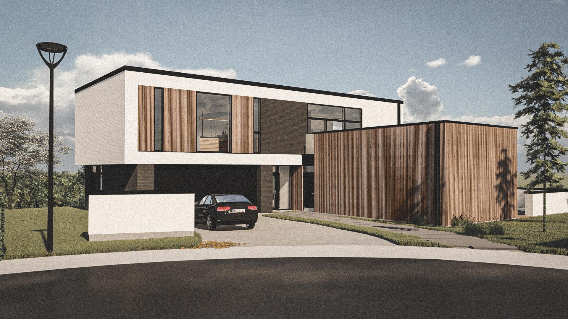 Billede af Dansk arkitekttegnet 2 plan villa af arkitektfirmaet m2plus, i Morud på 287 kvartratmeter.