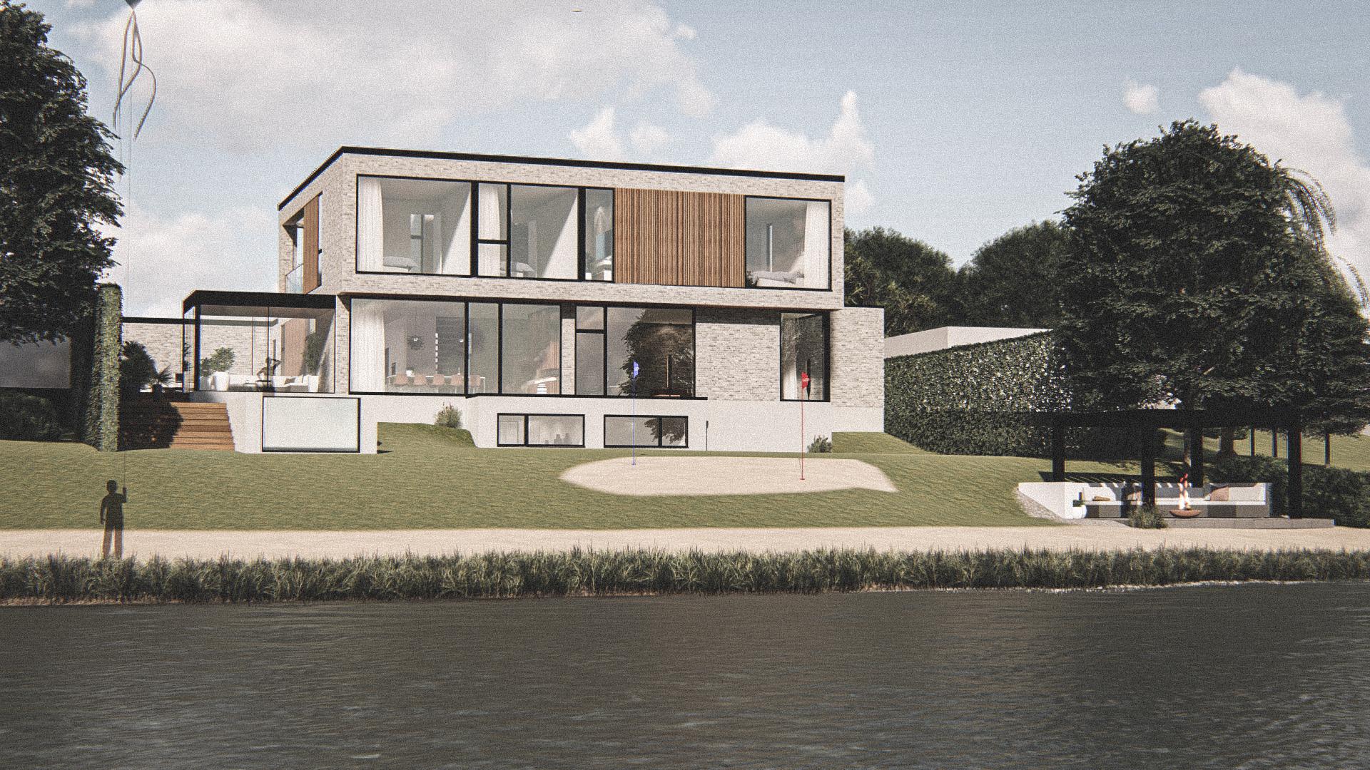 Billede af Dansk arkitekttegnet 3 plan villa af arkitektfirmaet m2plus, i Rungsted kyst på 422 kvartratmeter.