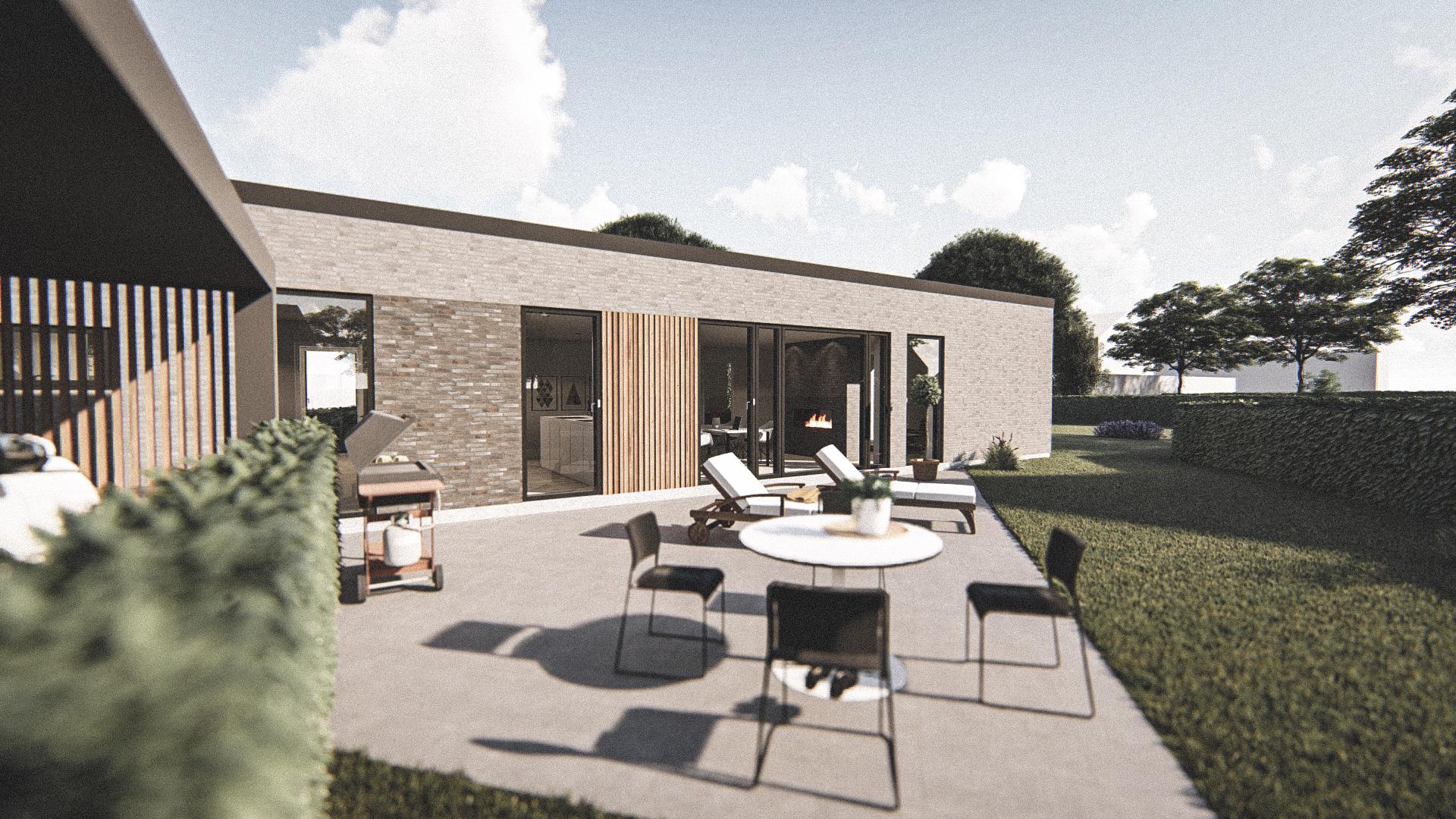 Billede af Dansk arkitekttegnet 1 plan villa af arkitektfirmaet m2plus, i Herning på 186 kvartratmeter.