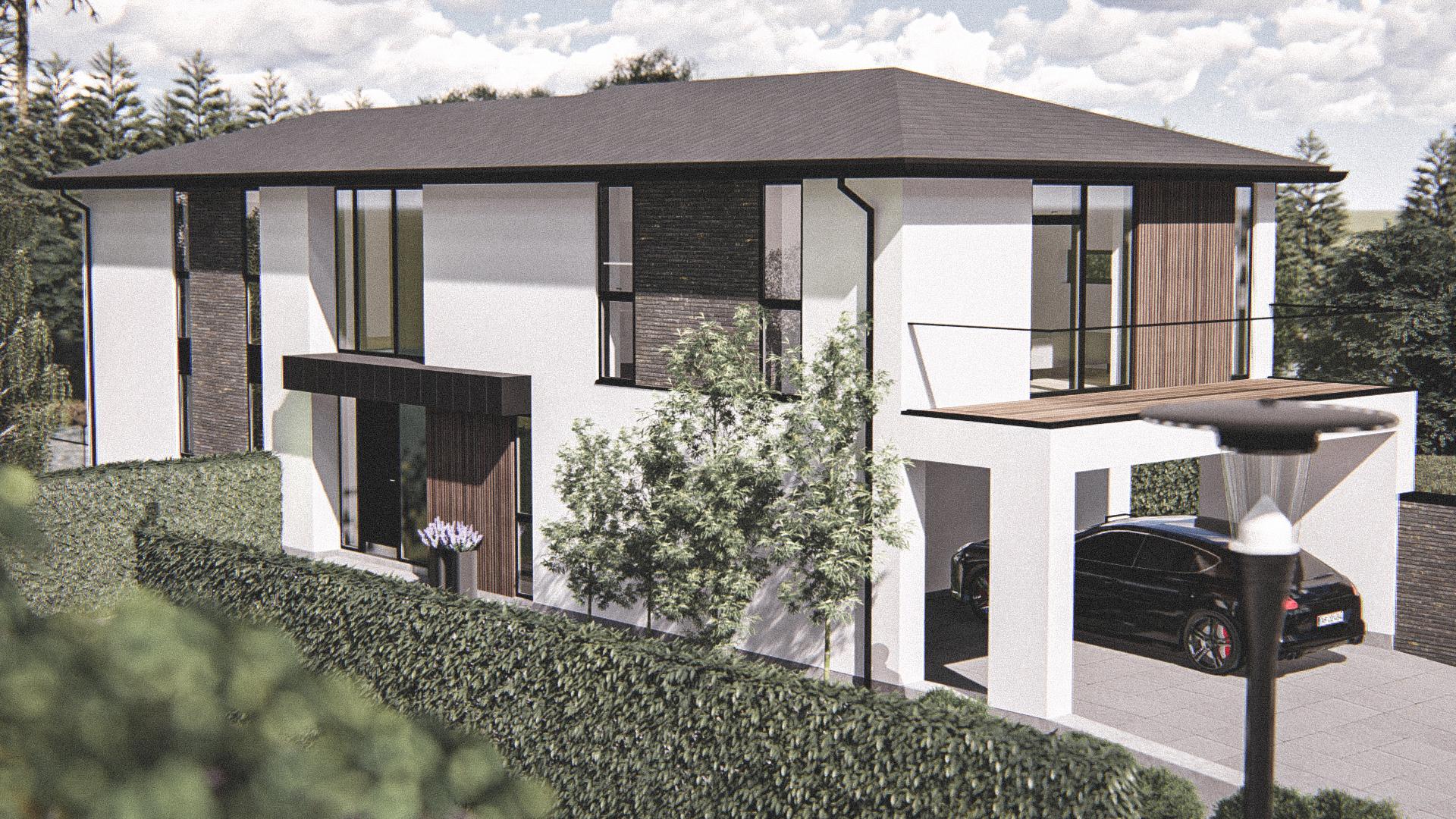 Billede af Dansk arkitekttegnet 2 plan villa af arkitektfirmaet m2plus, i Holte på 523 kvartratmeter.