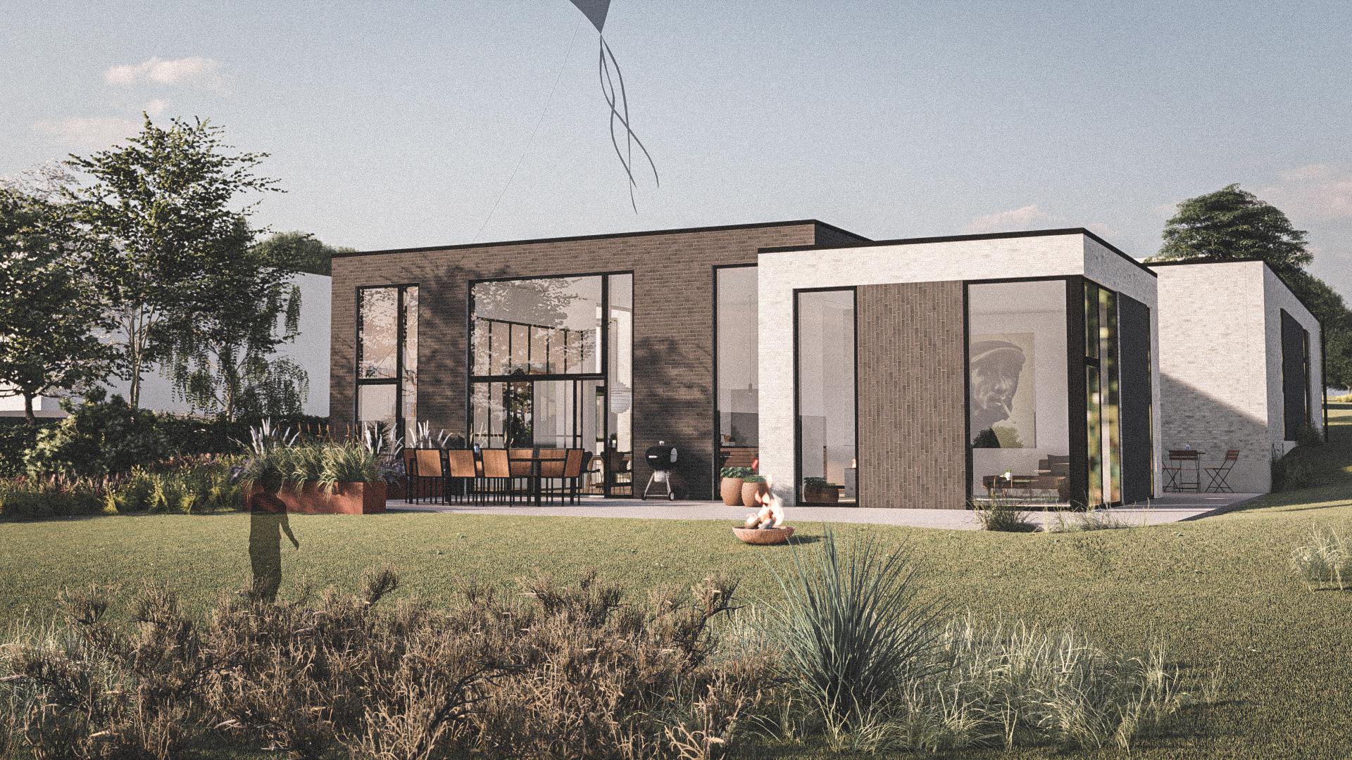 Billede af Dansk arkitekttegnet 3 plan villa af arkitektfirmaet m2plus, i Løgstør på 246 kvartratmeter.