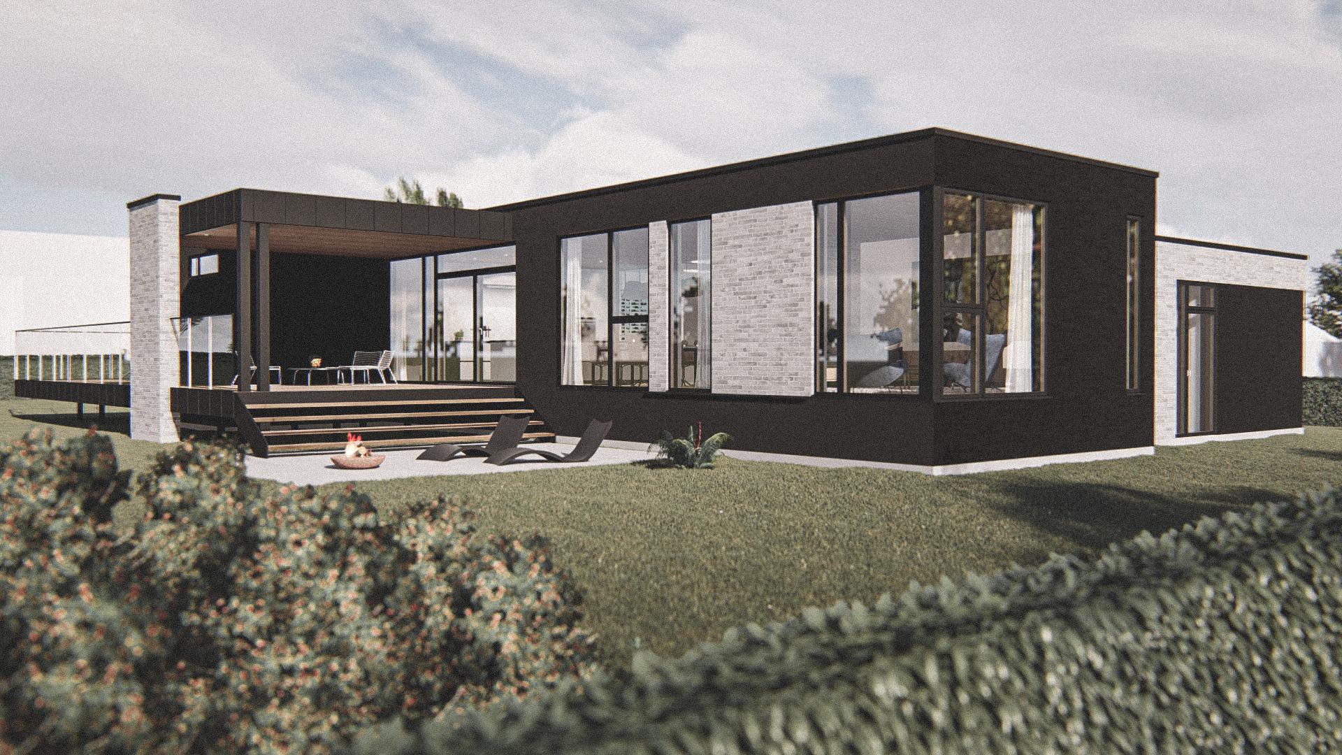 Billede af Dansk arkitekttegnet 1 plan villa af arkitektfirmaet m2plus, i Thisted på 193 kvartratmeter.