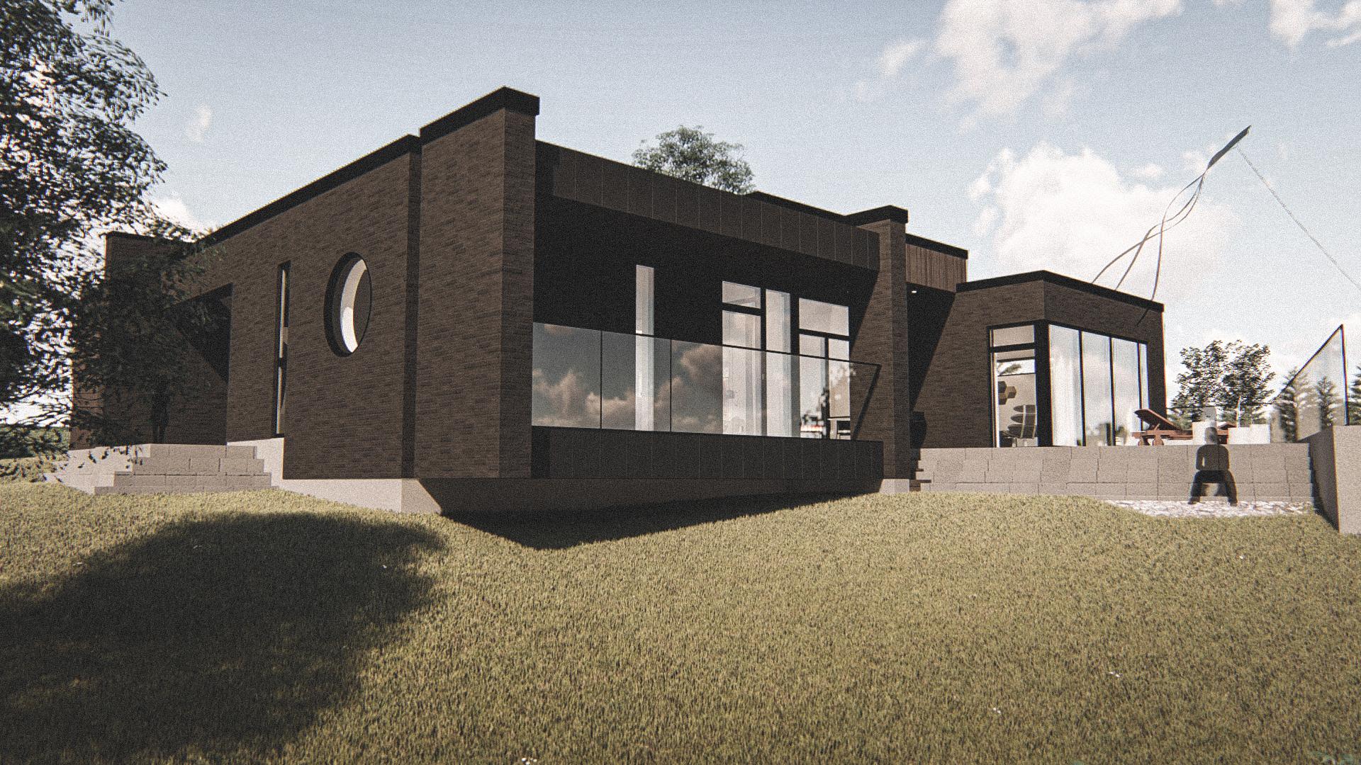 Billede af Dansk arkitekttegnet 1 plan villa af arkitektfirmaet m2plus, i Viborg på 228 kvartratmeter.