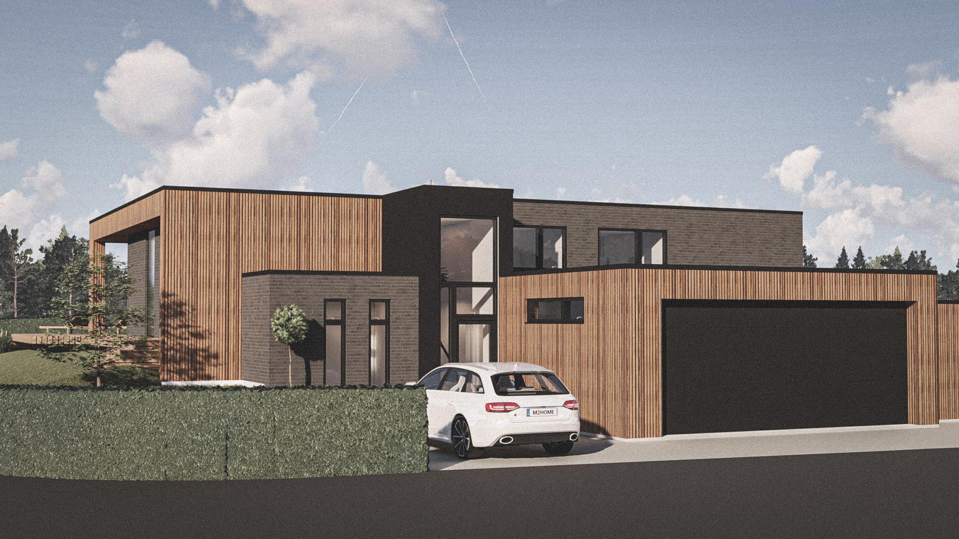 Billede af Dansk arkitekttegnet 1 plan villa af arkitektfirmaet m2plus, i Silkeborg på 157 kvartratmeter.