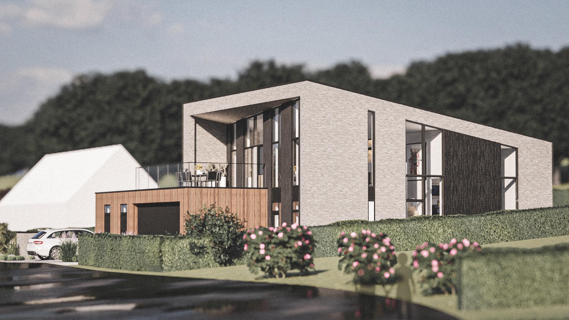 Billede af Dansk arkitekttegnet 2 plan villa af arkitektfirmaet m2plus, i Storvorde på 201 kvartratmeter.
