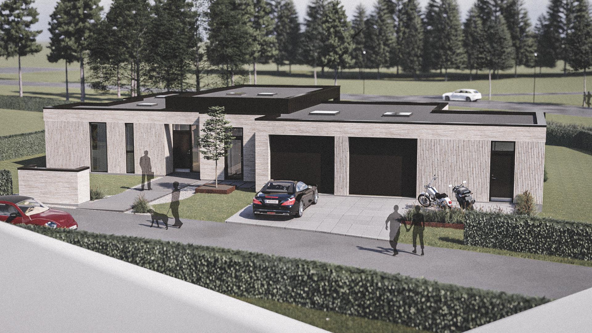 Billede af Dansk arkitekttegnet 1 plan villa af arkitektfirmaet m2plus, i Nyborg på 186 kvartratmeter.