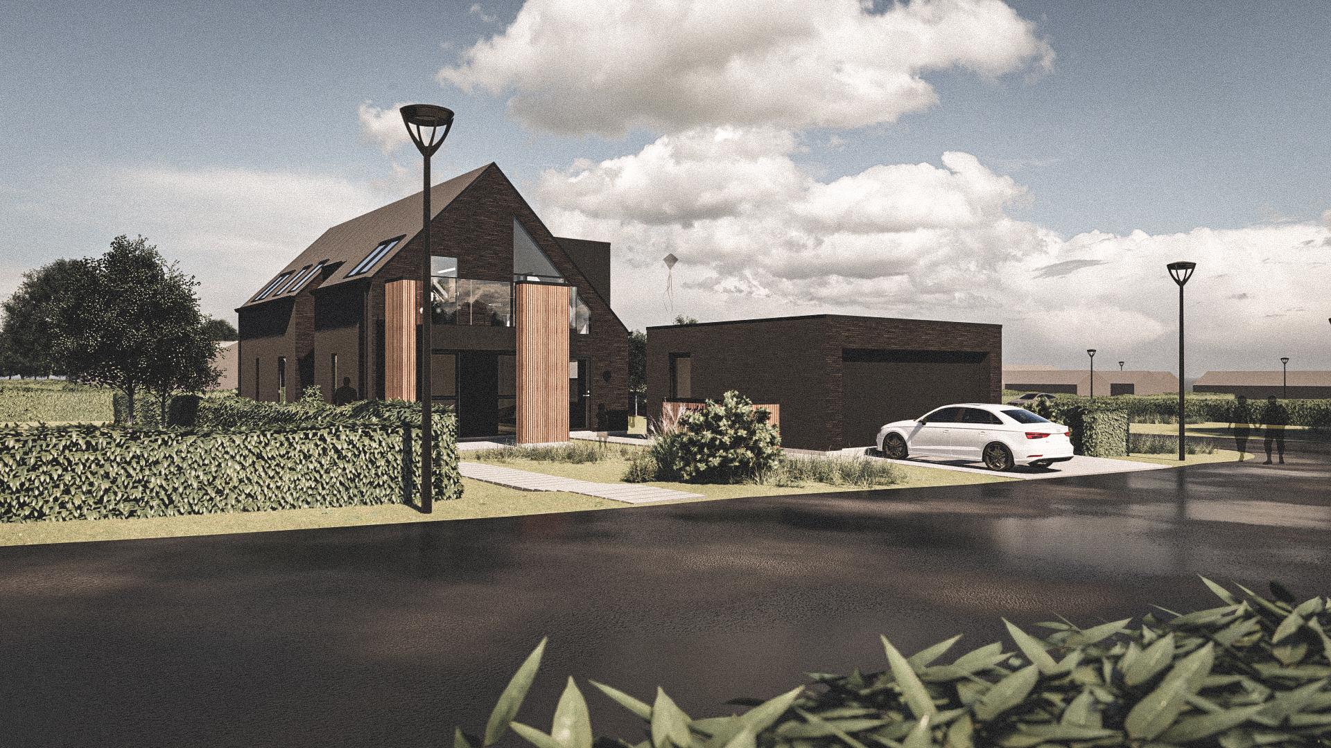 Billede af Dansk arkitekttegnet 2 plan villa af arkitektfirmaet m2plus, i Svendborg på 198 kvartratmeter.