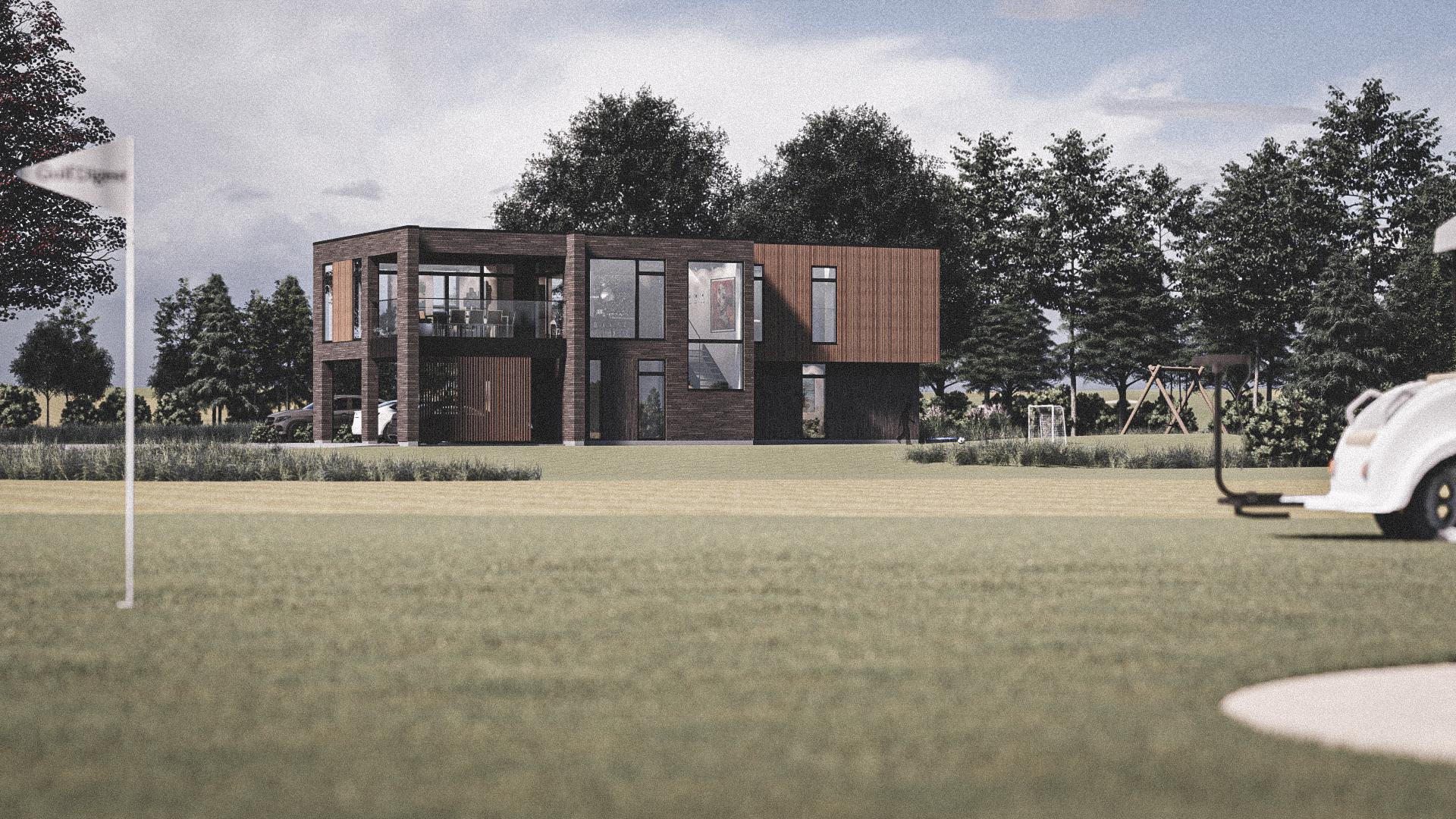 Billede af Dansk arkitekttegnet 2 plan villa af arkitektfirmaet m2plus, i Ry på 232 kvartratmeter.