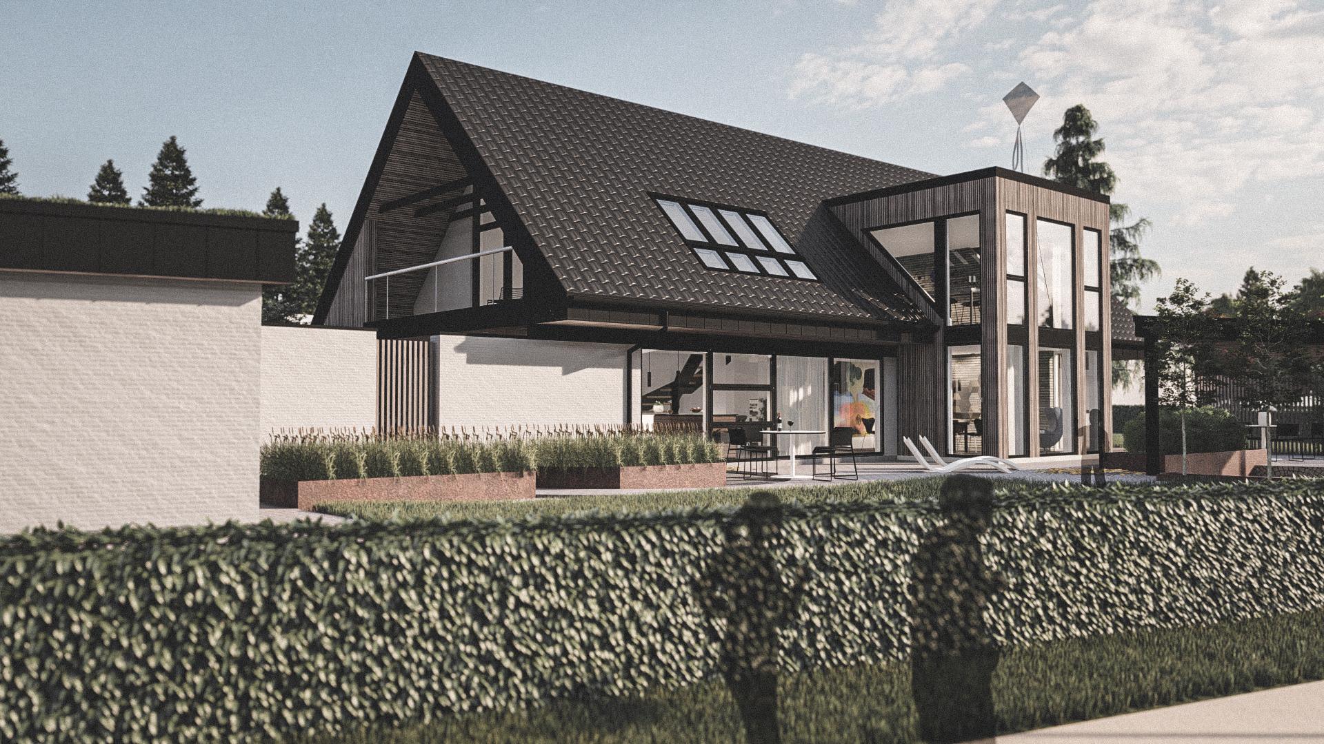 """Billede af et arkitekt tegnet projektforslag af nyt renoveringsprojekt i Horsens, af det danske arkitektfirma m2plus"""""""