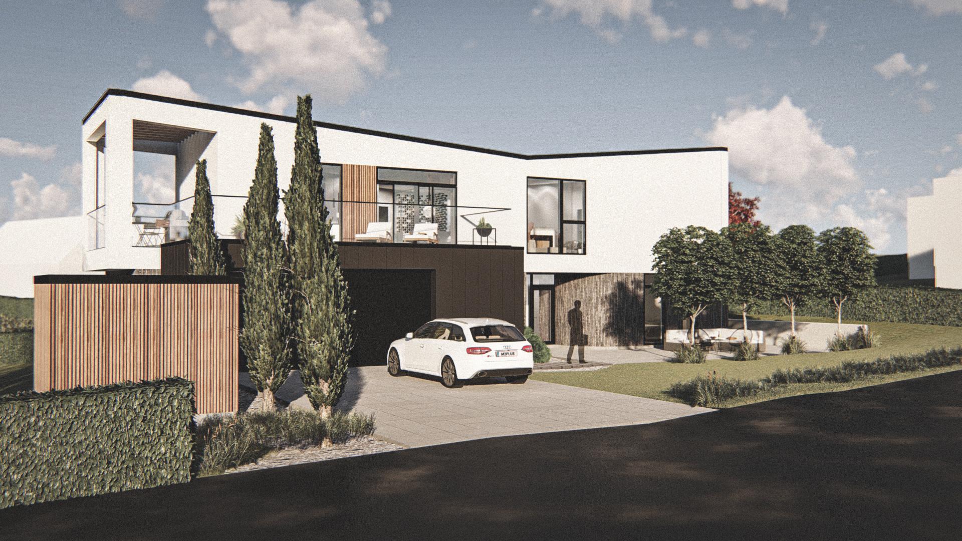 Billede af Dansk arkitekttegnet 2 plan villa af arkitektfirmaet m2plus, i Støvring på 272 kvartratmeter.